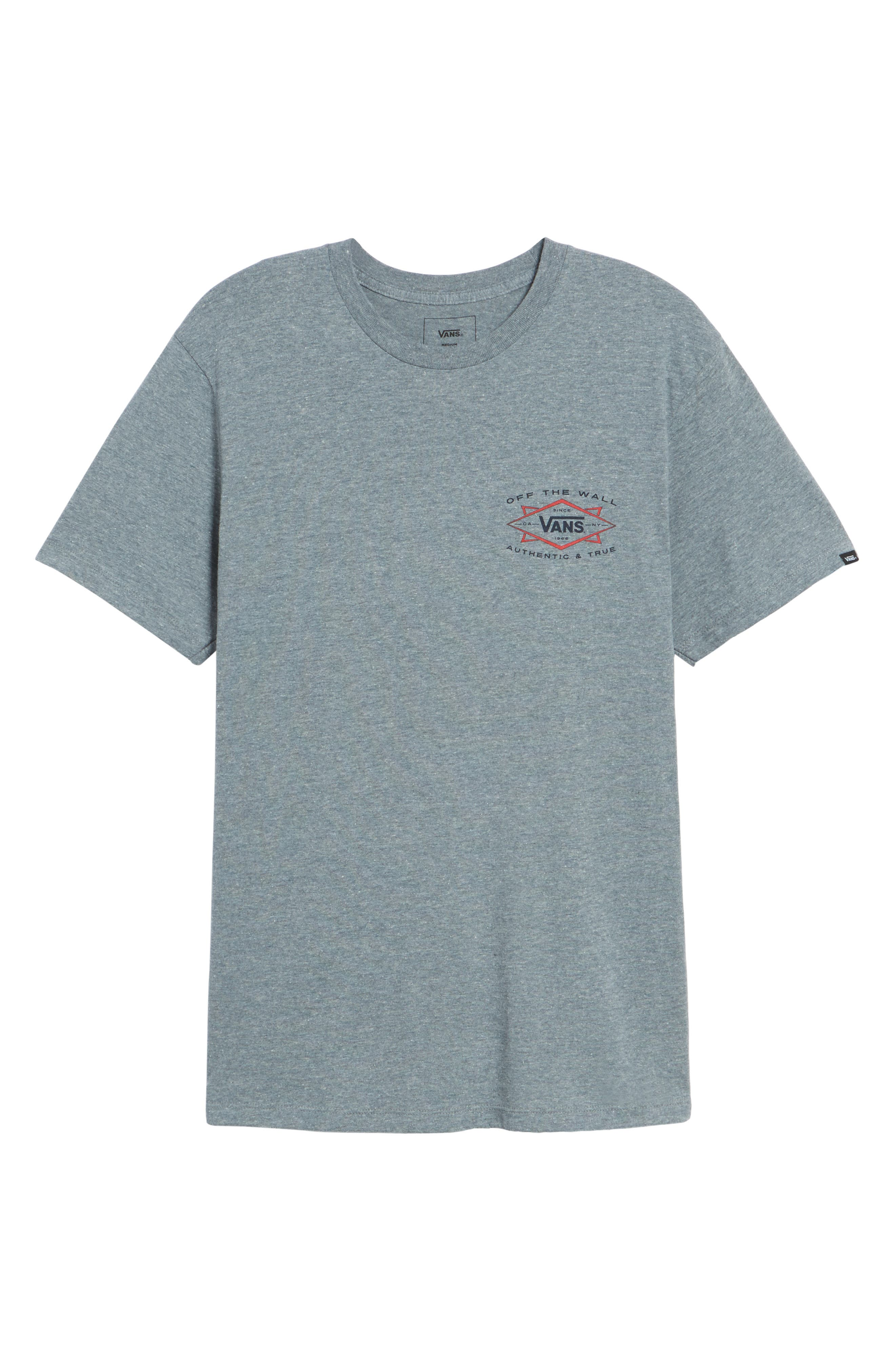 Off the Wall Shaper Graphic T-Shirt,                             Alternate thumbnail 6, color,                             Heather Grey
