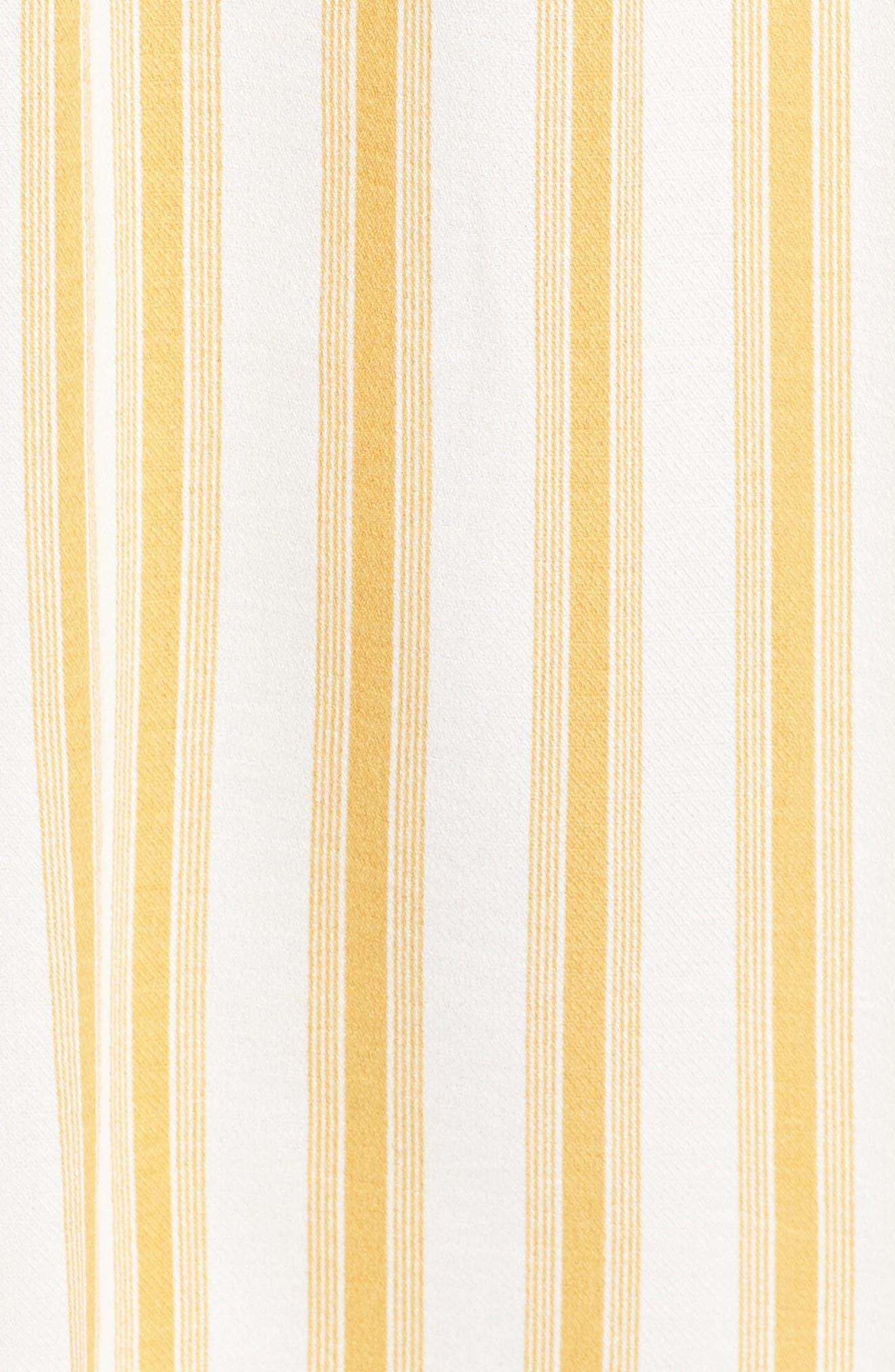 Leena Stripe Midi Dress,                             Alternate thumbnail 5, color,                             Mustard