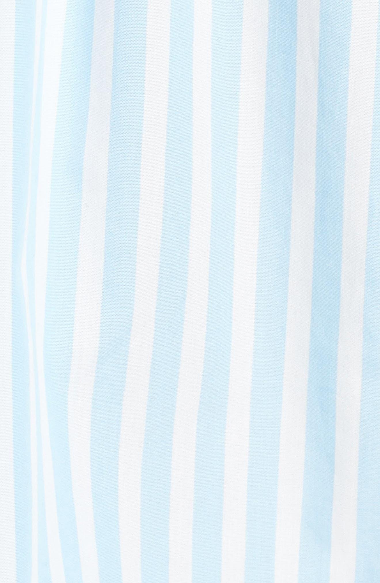 Smithson Stripe Shirtdress,                             Alternate thumbnail 5, color,                             Dream Blue