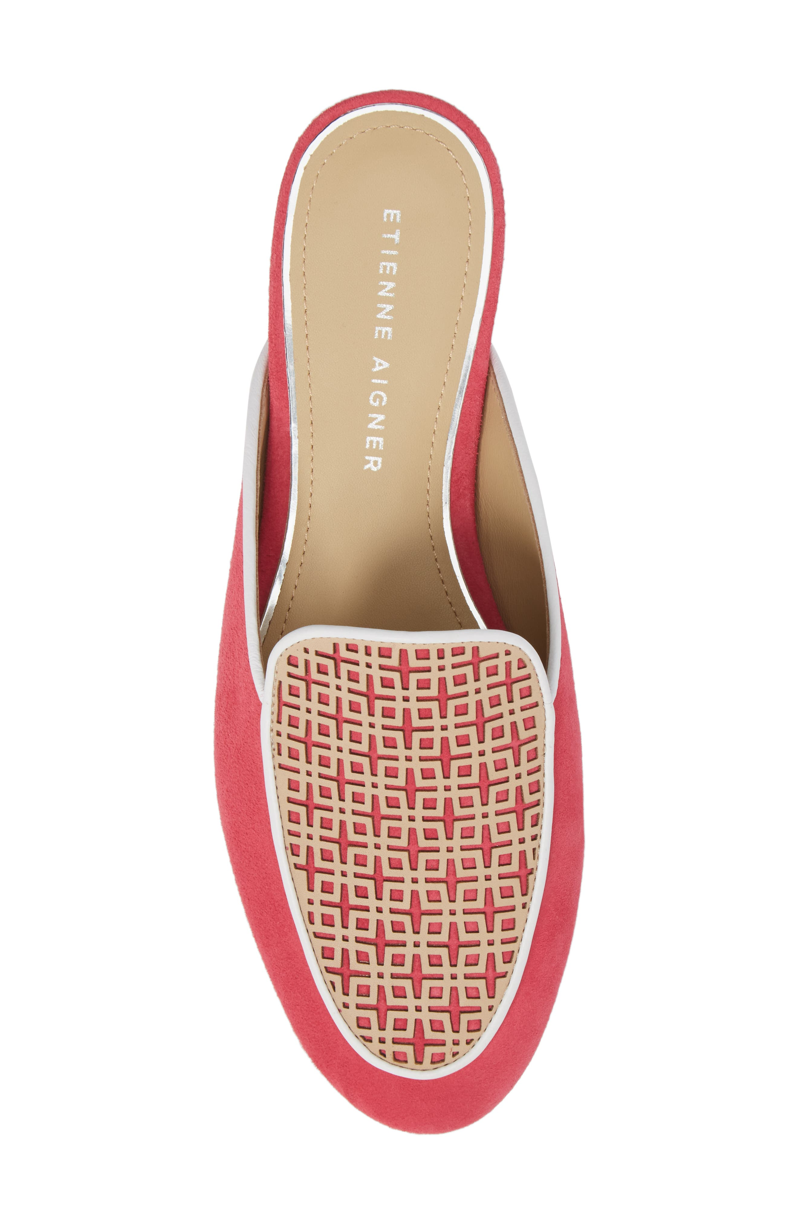 Caymen Mule,                             Alternate thumbnail 5, color,                             Natural/ Peony/ White