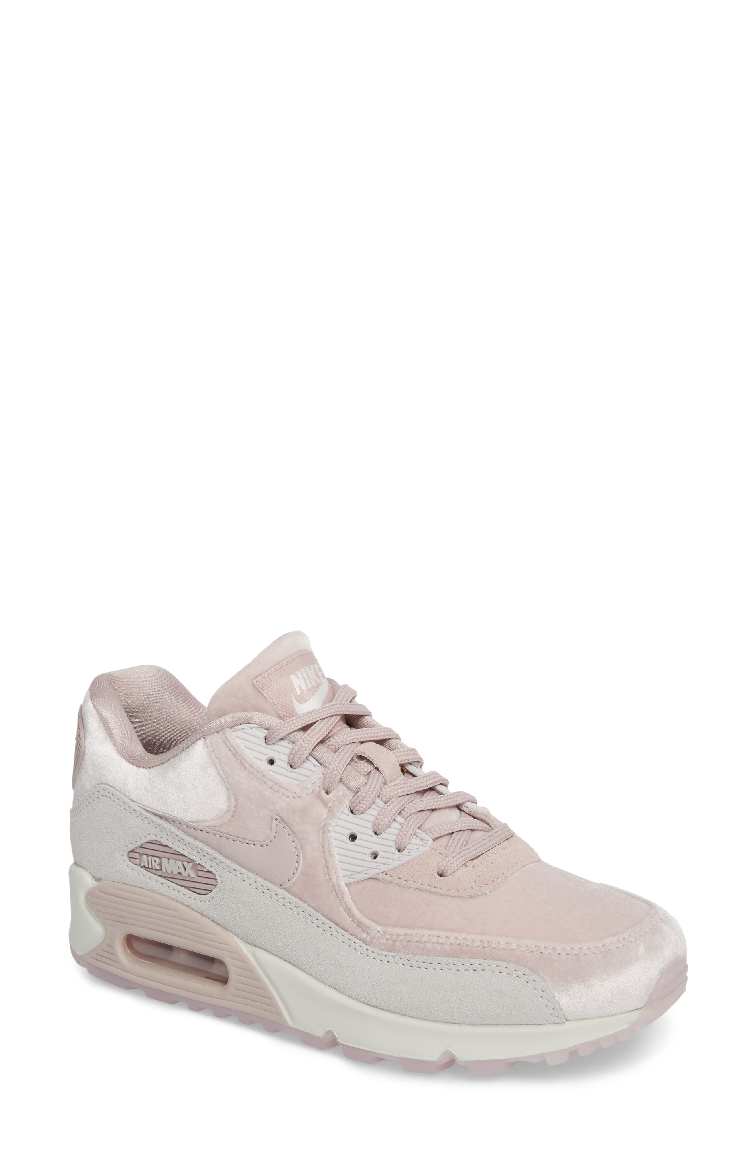 Air Max 90 LX Sneaker,                             Main thumbnail 1, color,                             Particle Rose/ Particle Rose
