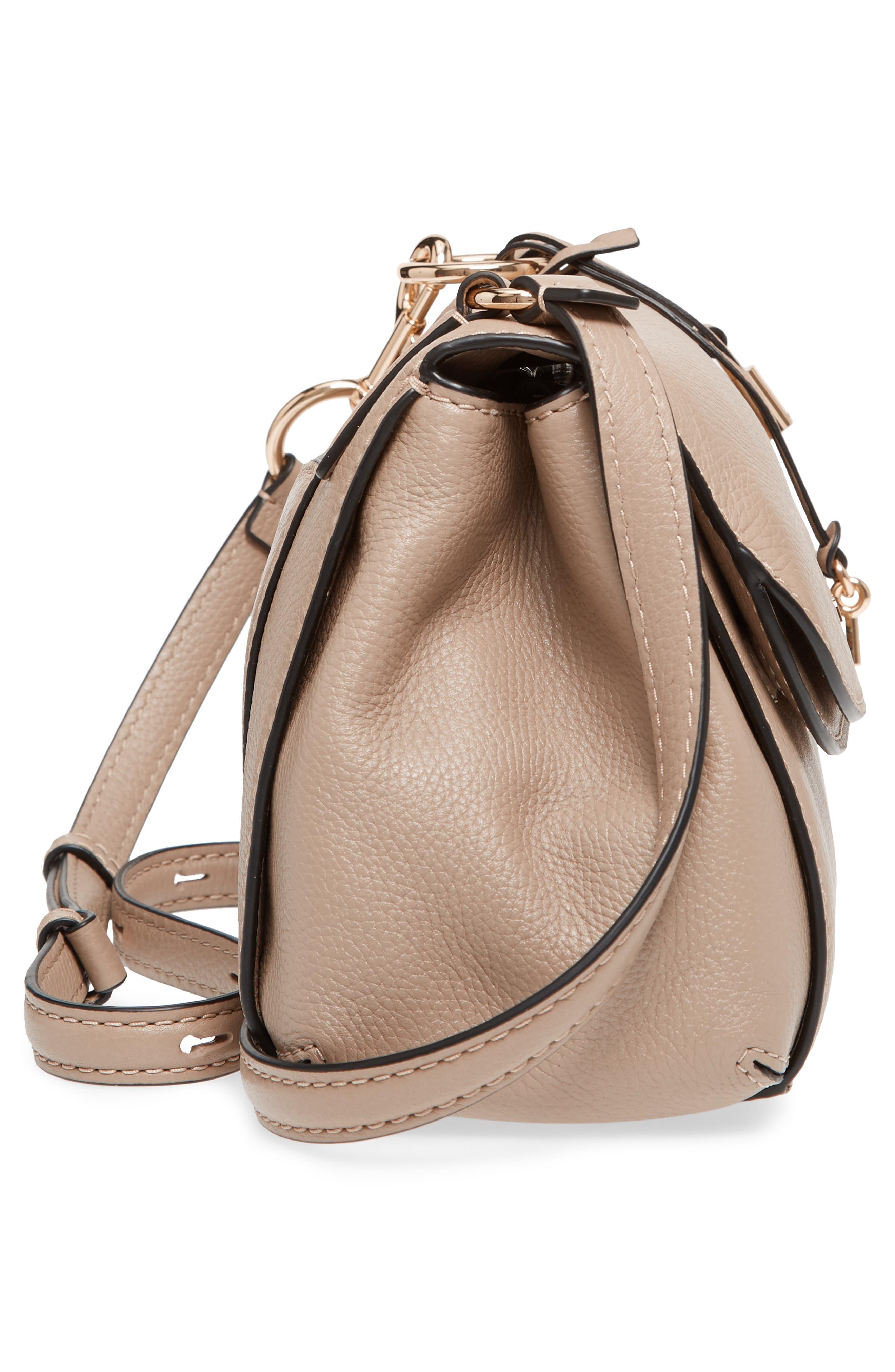 The Grind Boho Leather Shoulder Bag,                             Alternate thumbnail 5, color,                             Light Slate