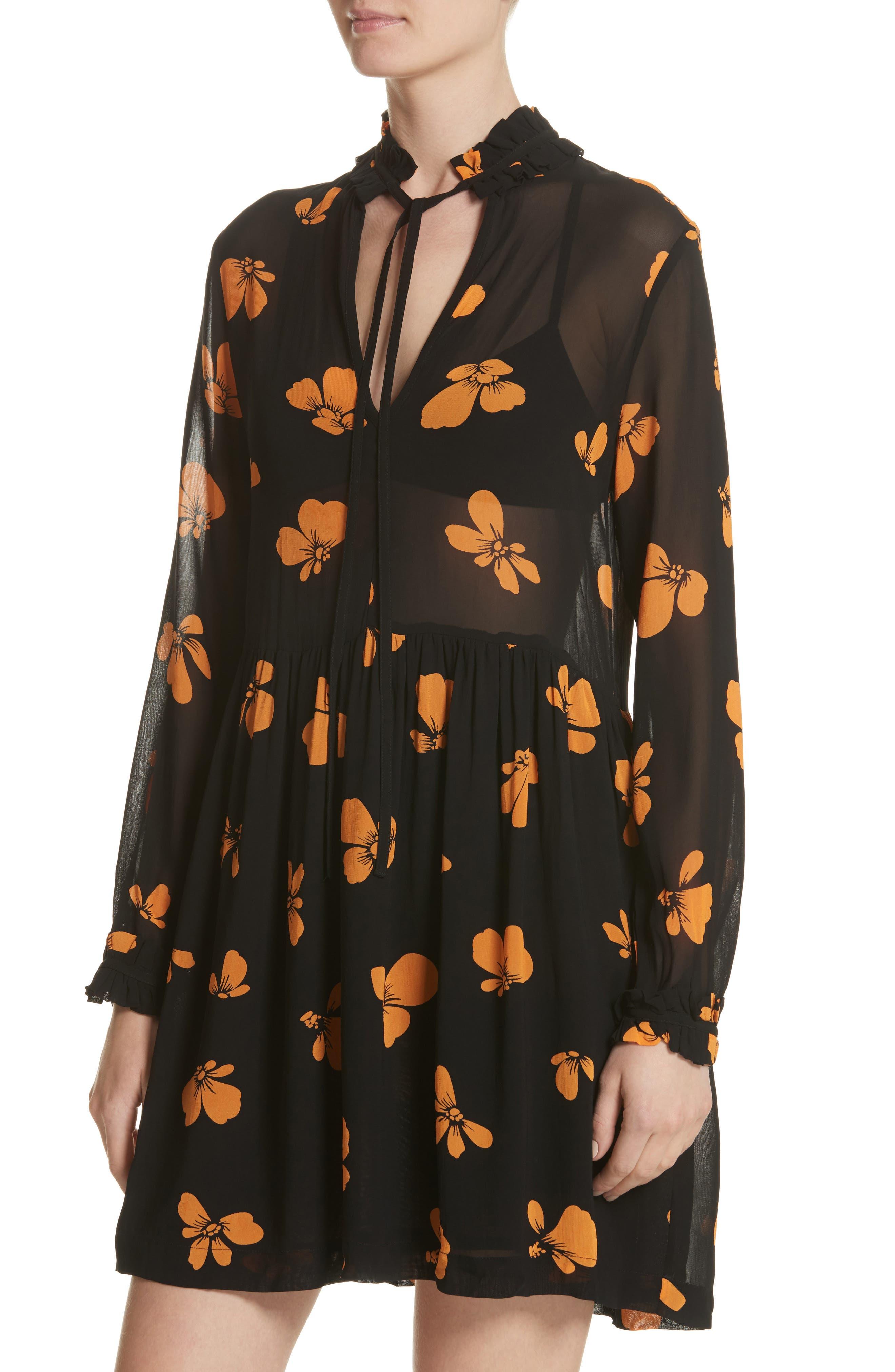 Alternate Image 4  - GANNI Fairfax Georgette Dress