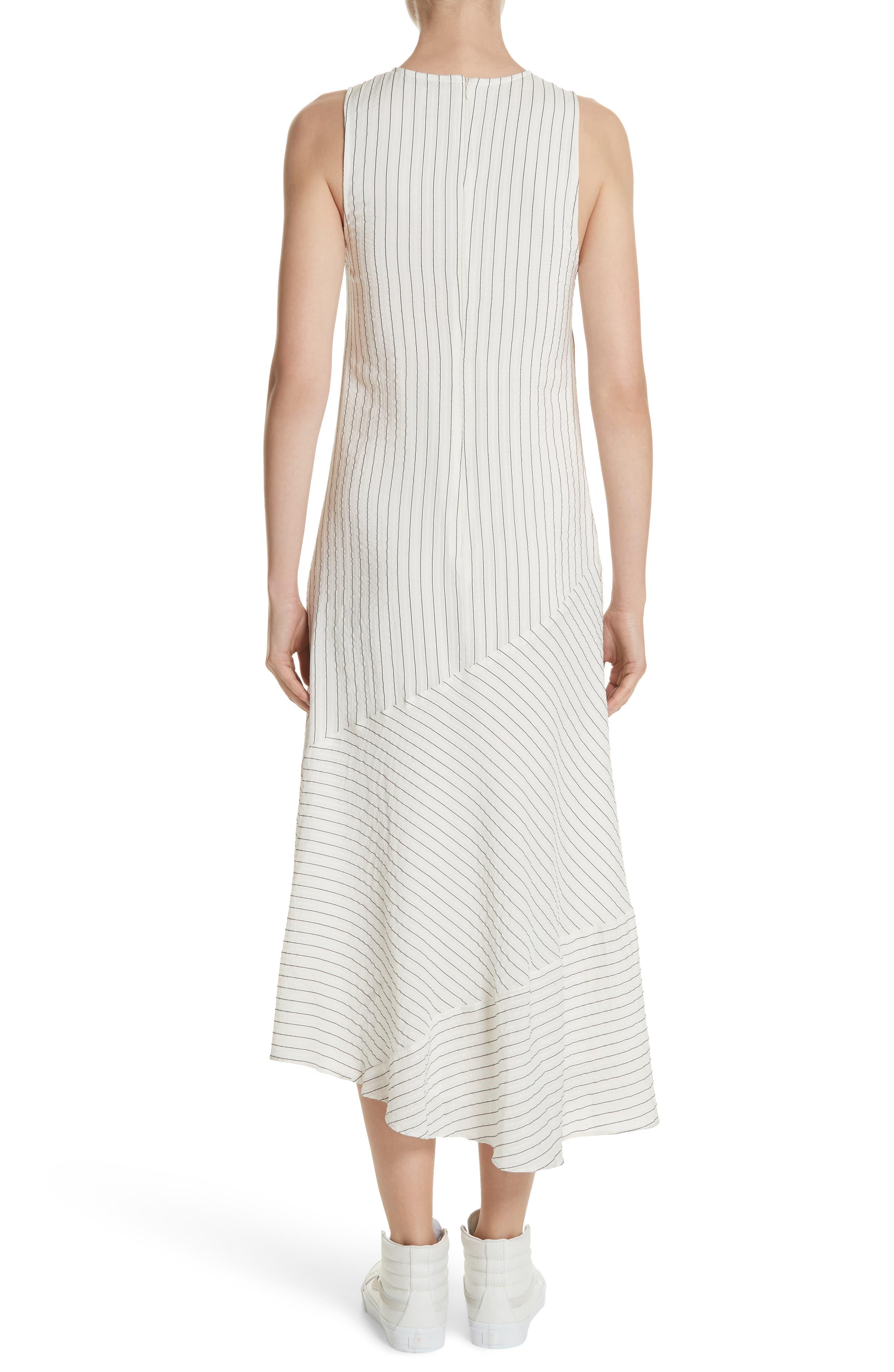 Wilkie Seersucker Striped Sheath Dress,                             Alternate thumbnail 2, color,                             Vanilla Ice
