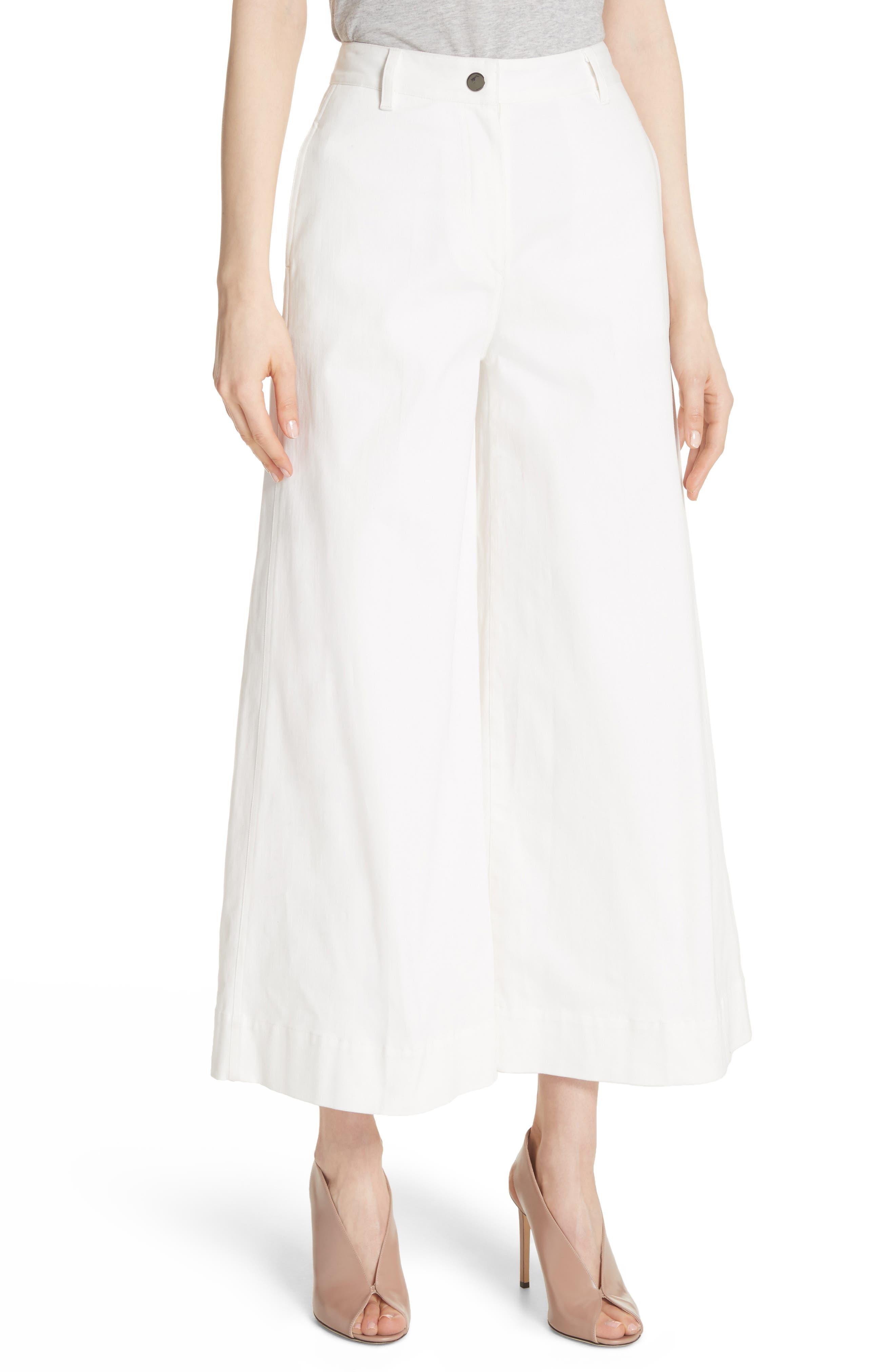 Ace Wide Leg Crop Jeans,                         Main,                         color, White