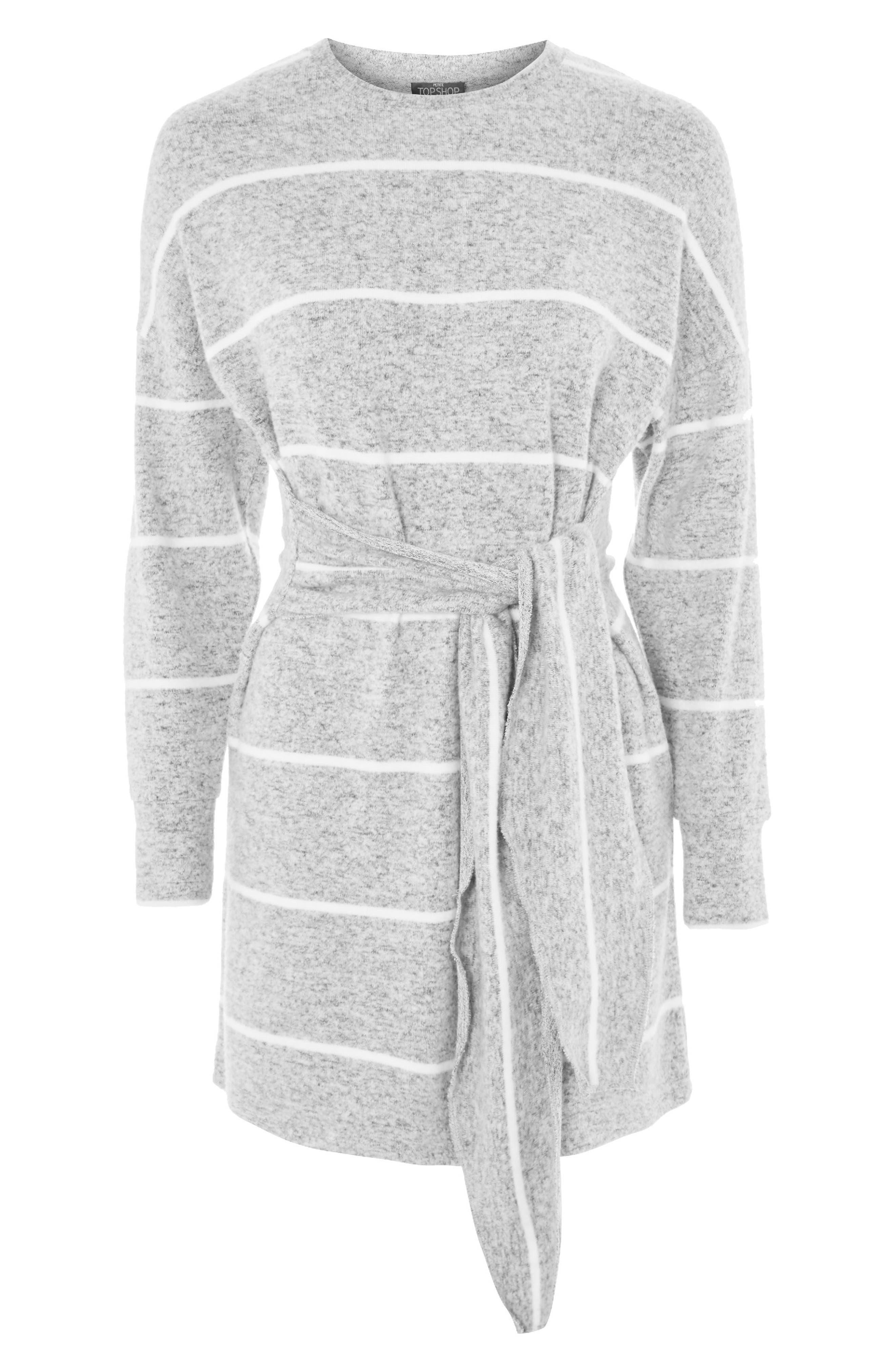 Stripe Cut & Sew Minidress,                             Alternate thumbnail 3, color,                             Grey Multi