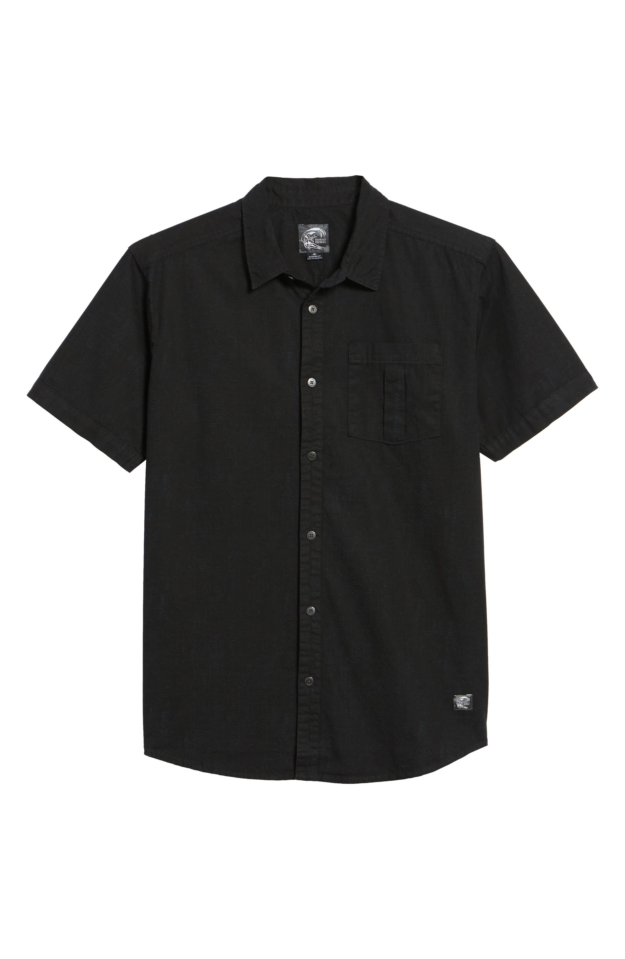Untitled Woven Shirt,                             Alternate thumbnail 6, color,                             Black