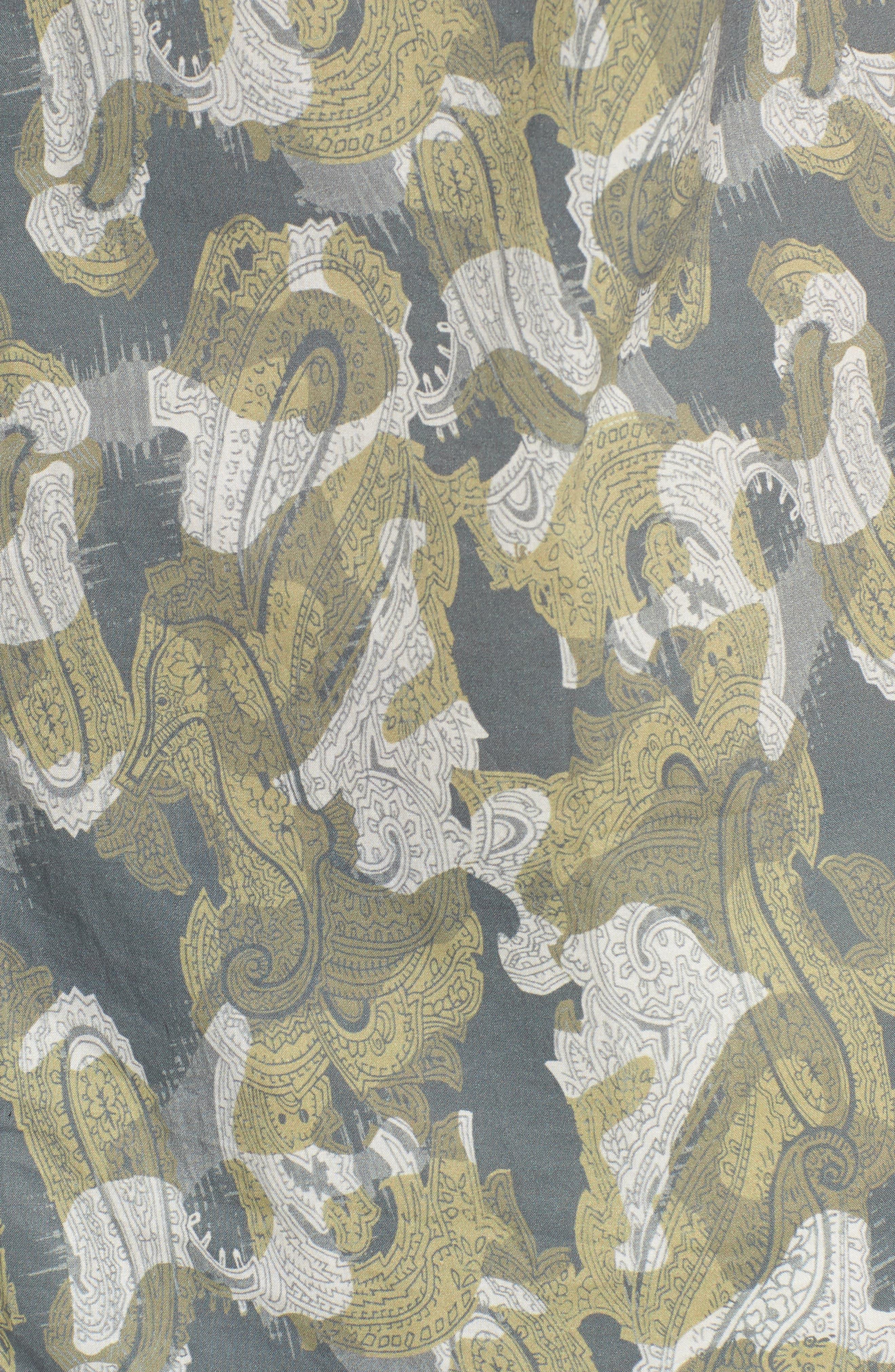 Paisley Print Short Sleeve Sport Shirt,                             Alternate thumbnail 5, color,                             Seahorse Paisley Print