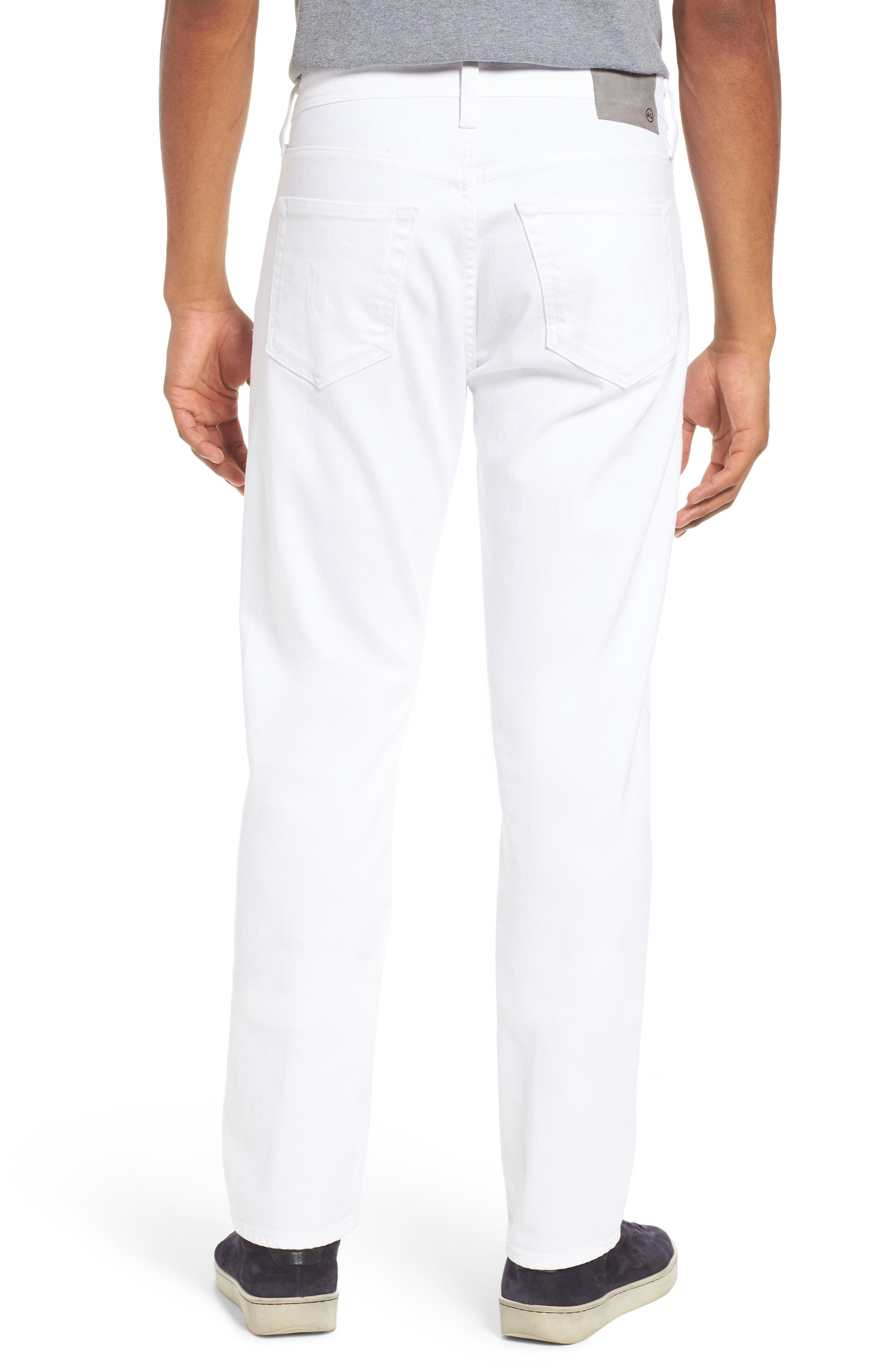 Everett Slim Straight Leg Jeans,                             Alternate thumbnail 2, color,                             White
