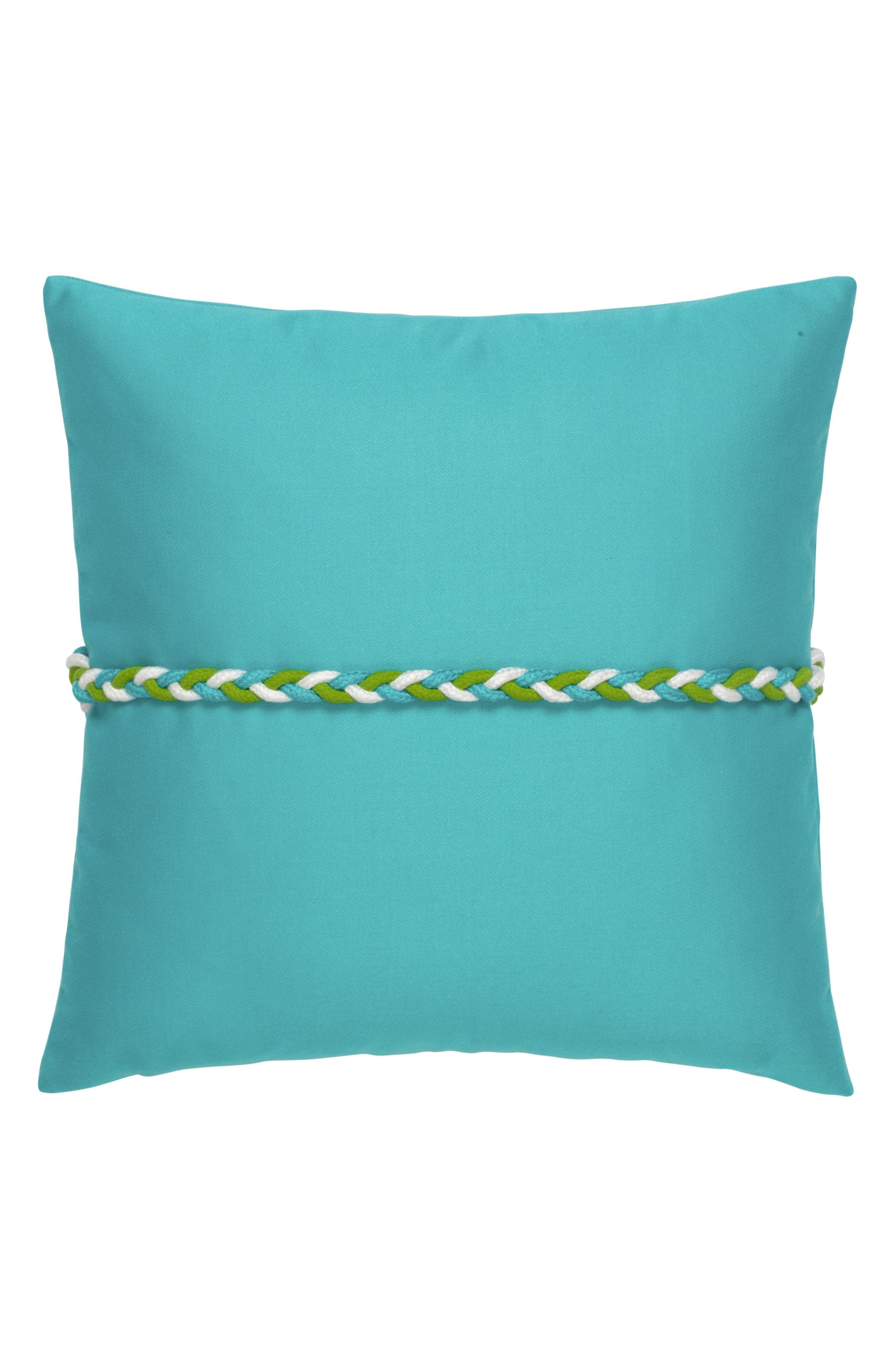 Aruba Frogs Clasp Indoor/Outdoor Accent Pillow,                             Alternate thumbnail 2, color,                             Blue