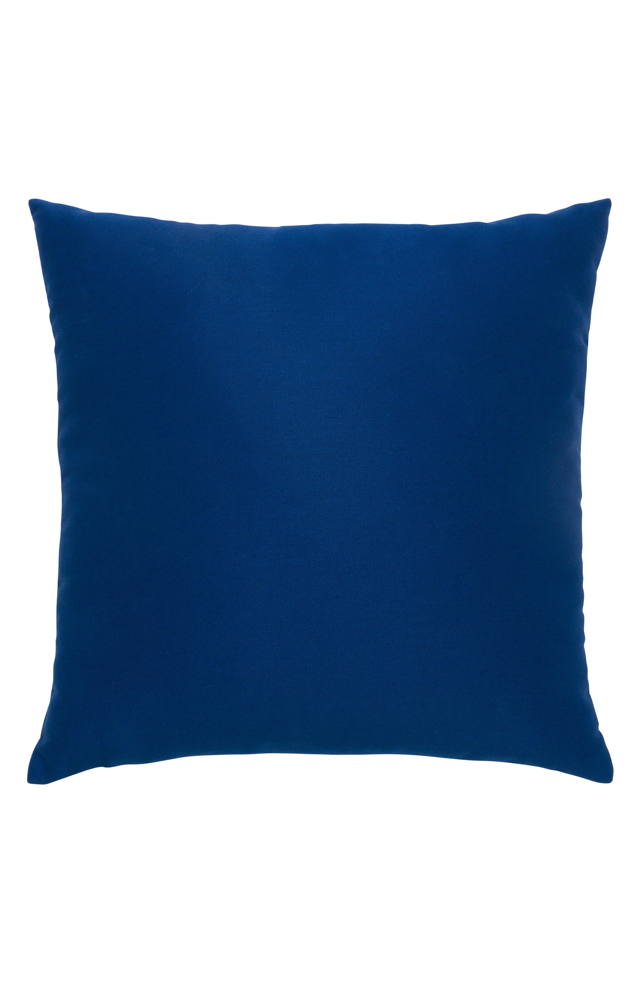 Ombré Azure Indoor/Outdoor Accent Pillow,                             Alternate thumbnail 3, color,                             Blue
