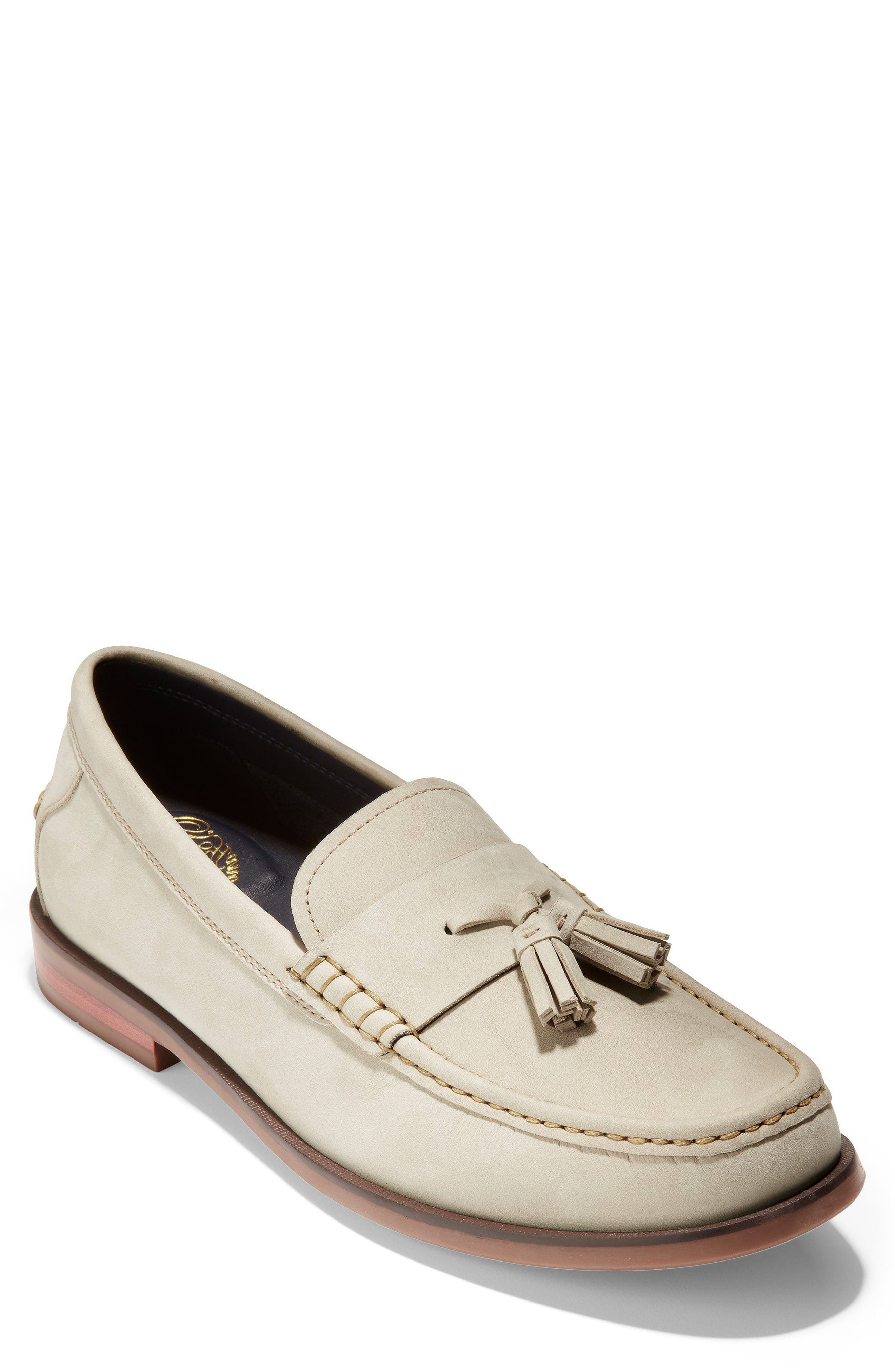 Pinch Friday Tassel Loafer,                         Main,                         color, Pumice Stone Nubuck