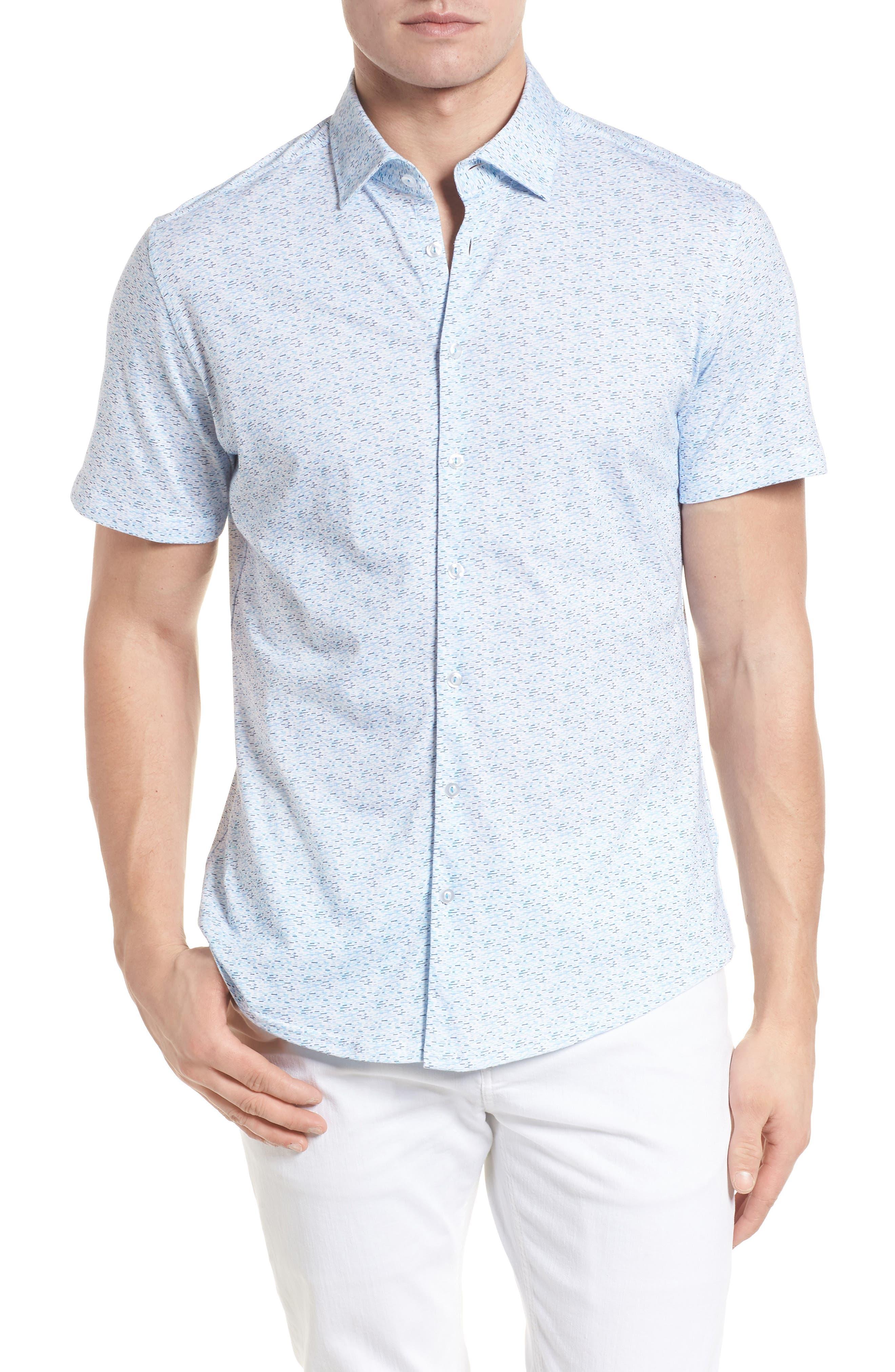 Knit Sport Shirt,                             Main thumbnail 1, color,                             Blue
