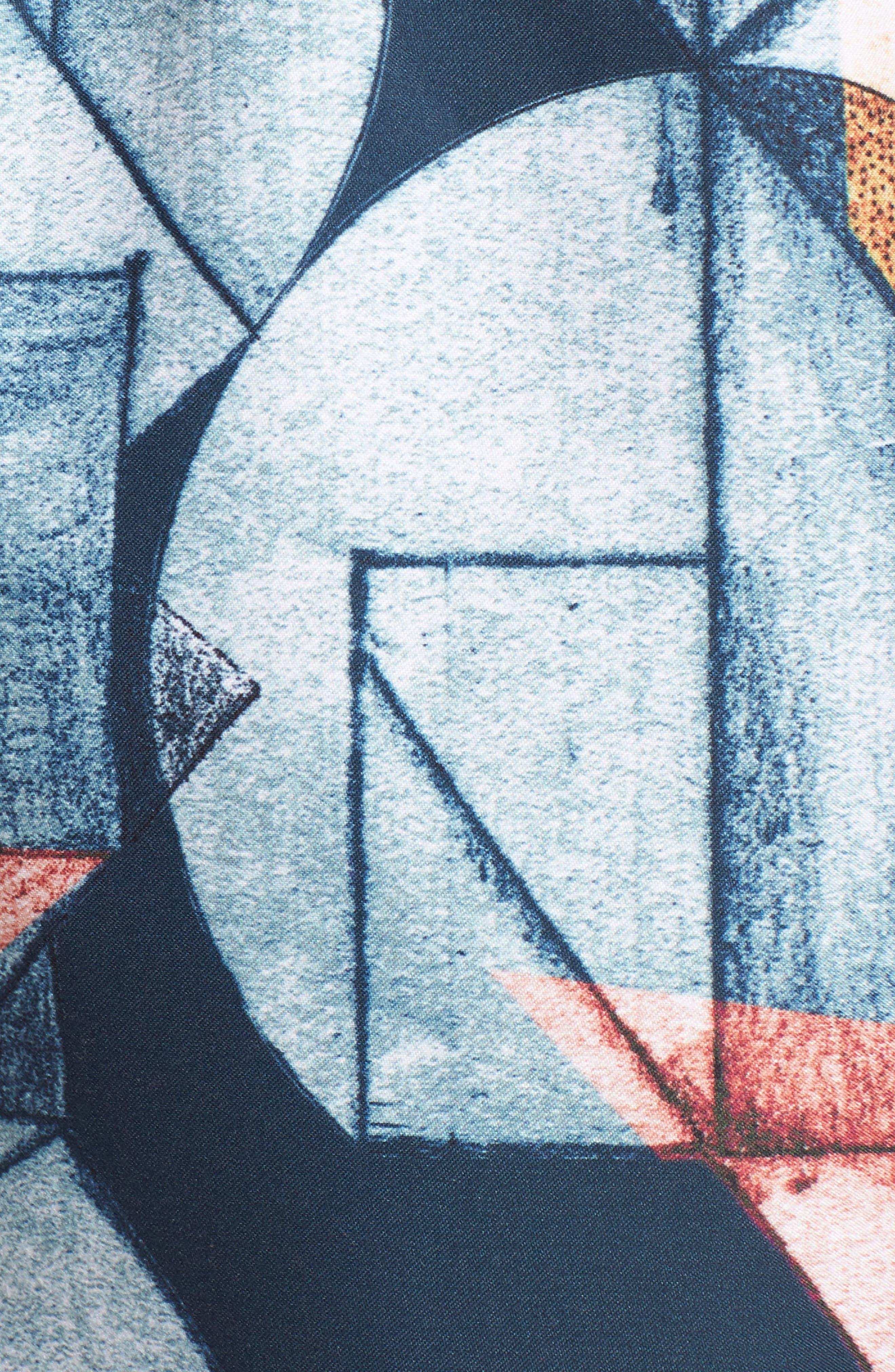 Olio Etch Swim Trunks,                             Alternate thumbnail 5, color,                             Indigo