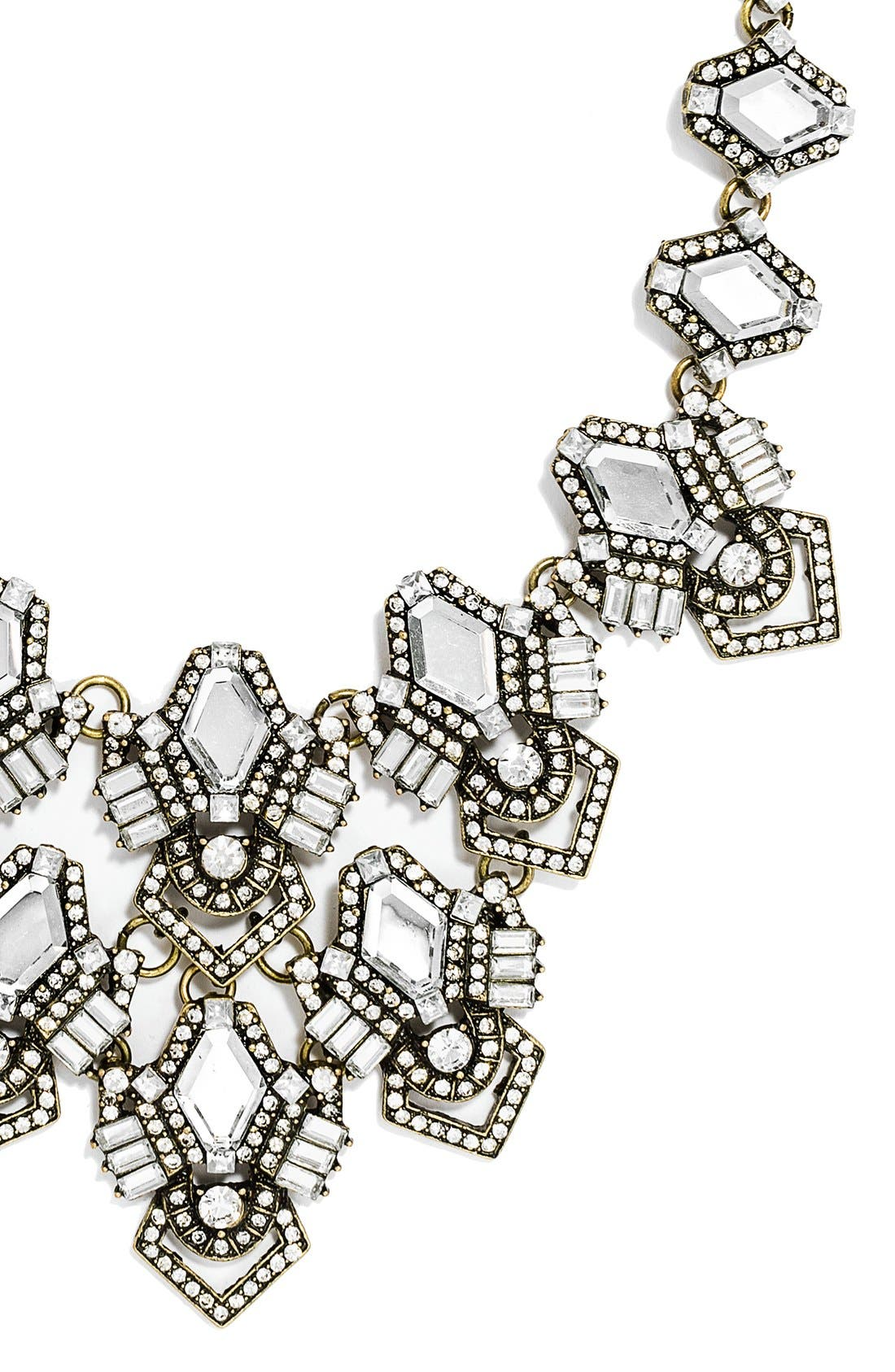 Alternate Image 2  - BaubleBar 'Deco Diamond' Bib Necklace