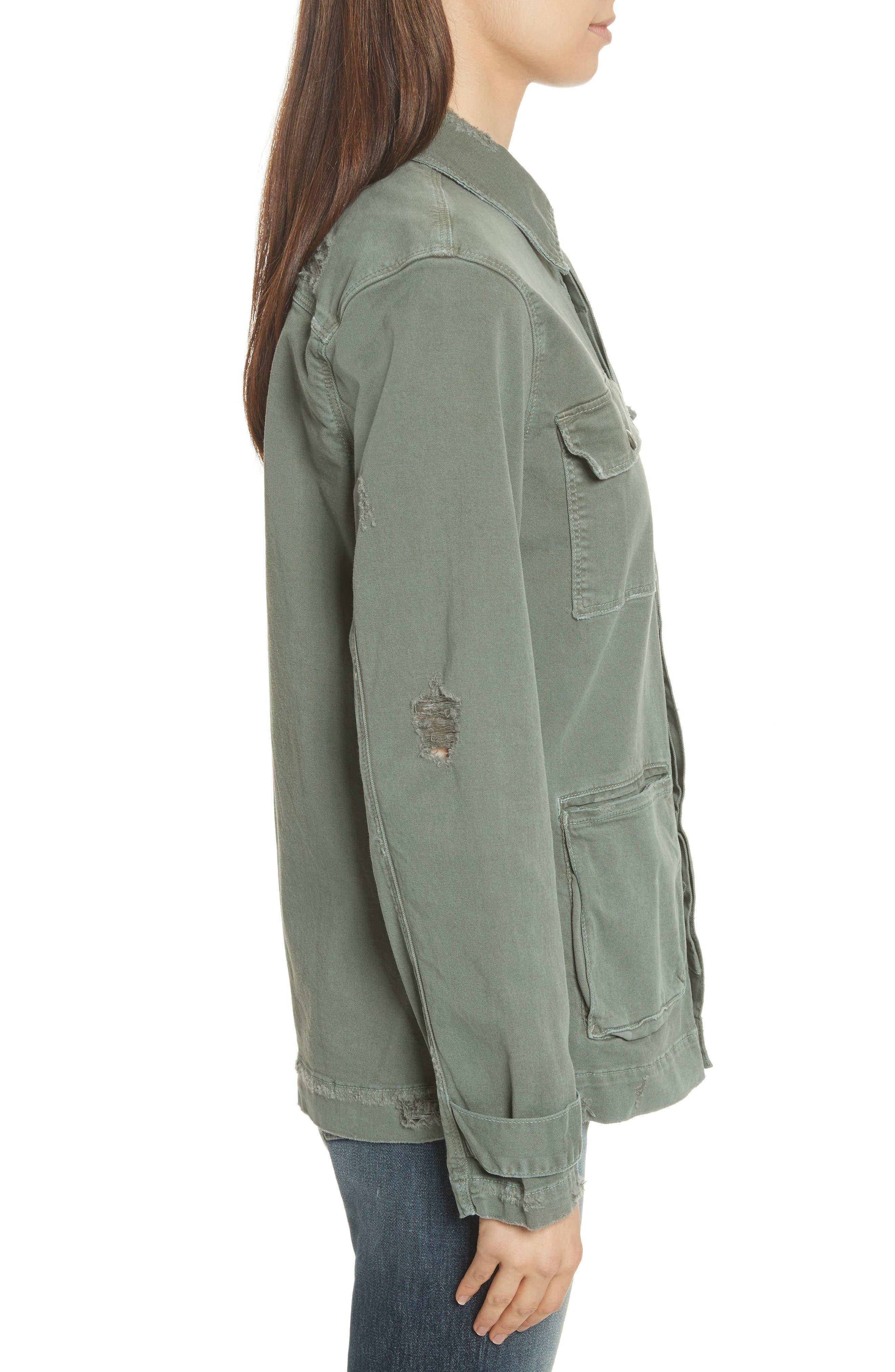 Slouchy Utility Jacket,                             Alternate thumbnail 4, color,                             Platoon