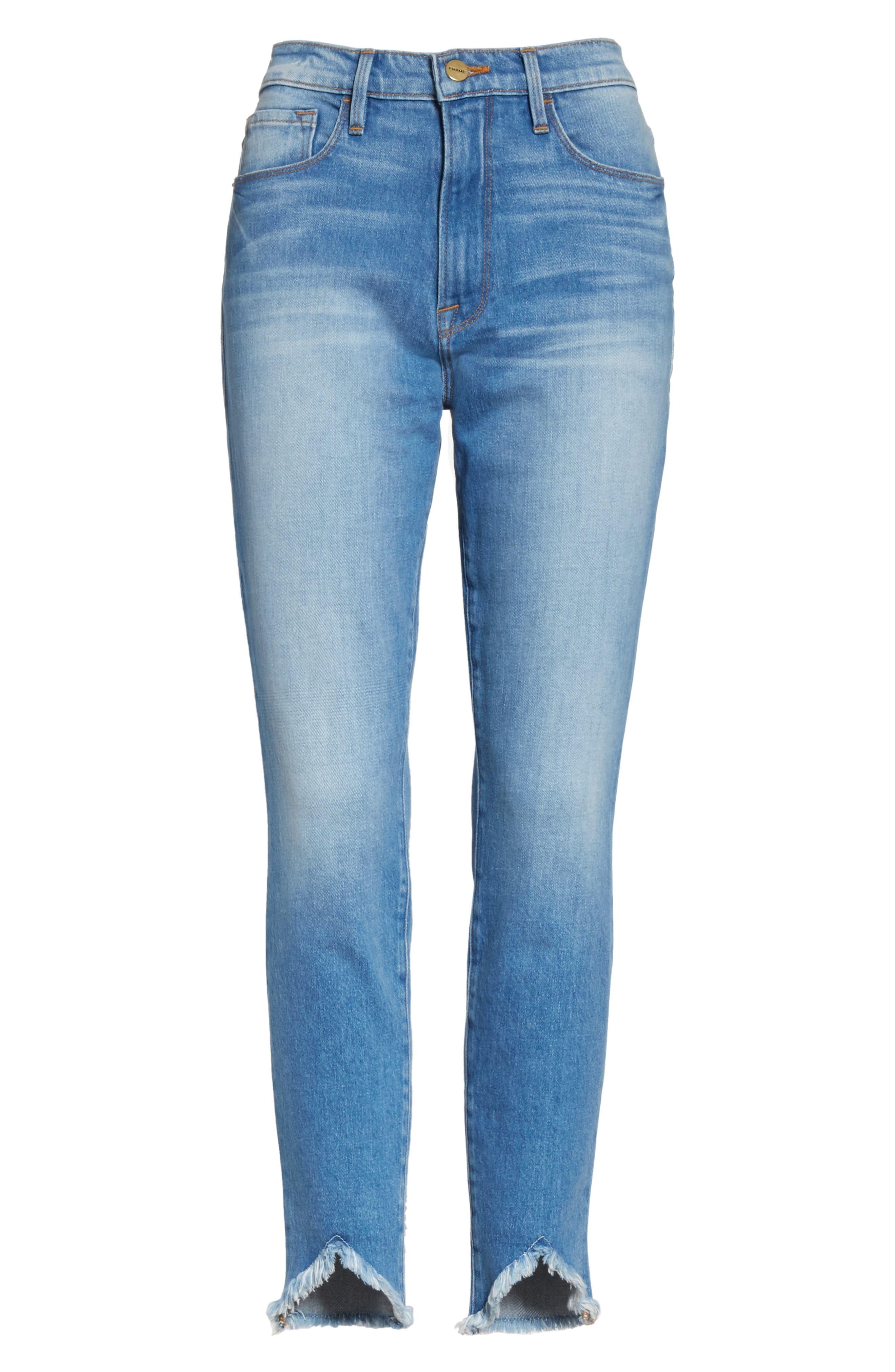 Ali High Waist Ankle Skinny Jeans,                             Alternate thumbnail 6, color,                             Opus