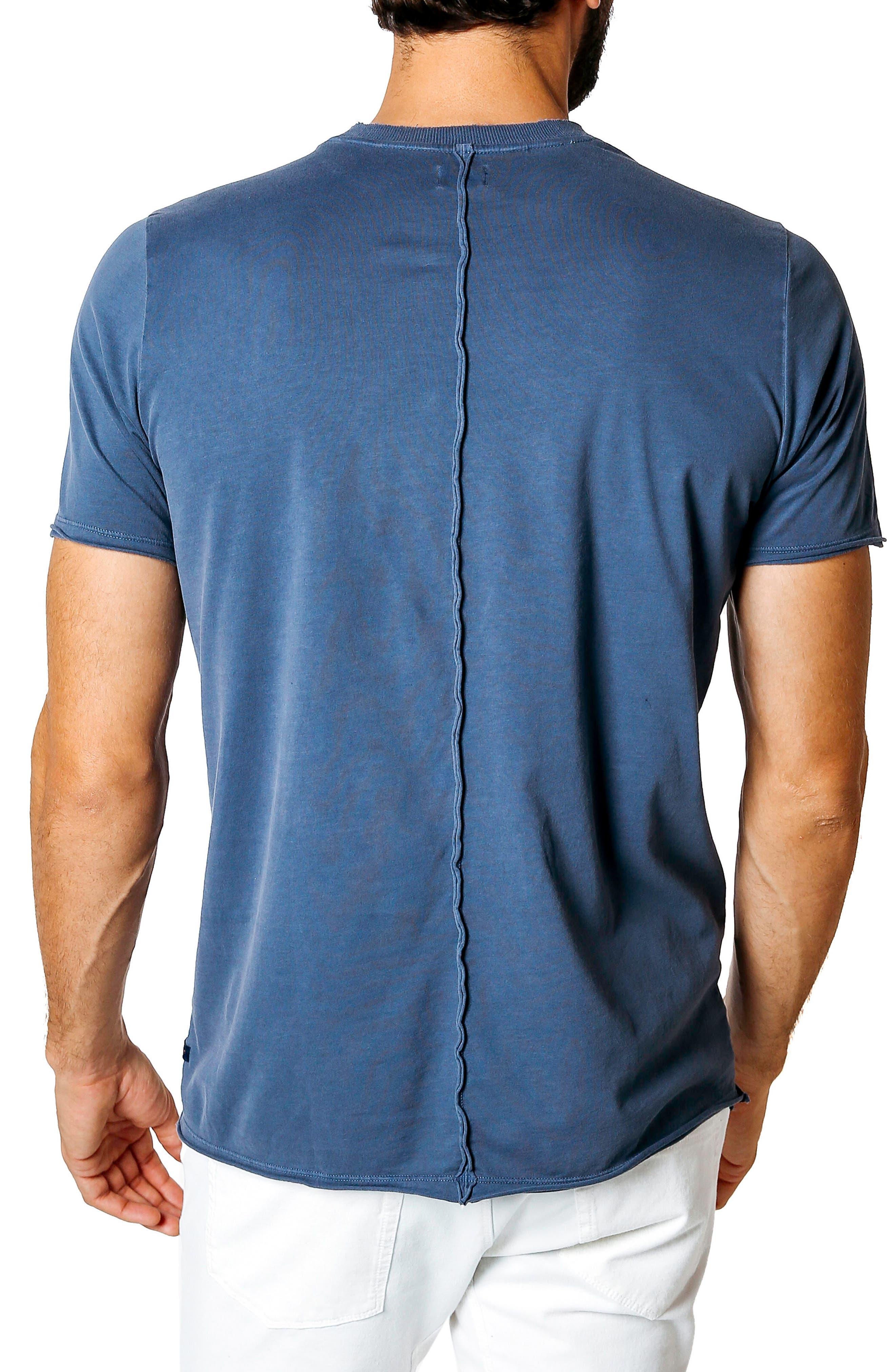 Trim Fit Slub T-Shirt,                             Alternate thumbnail 2, color,                             Denim Blue