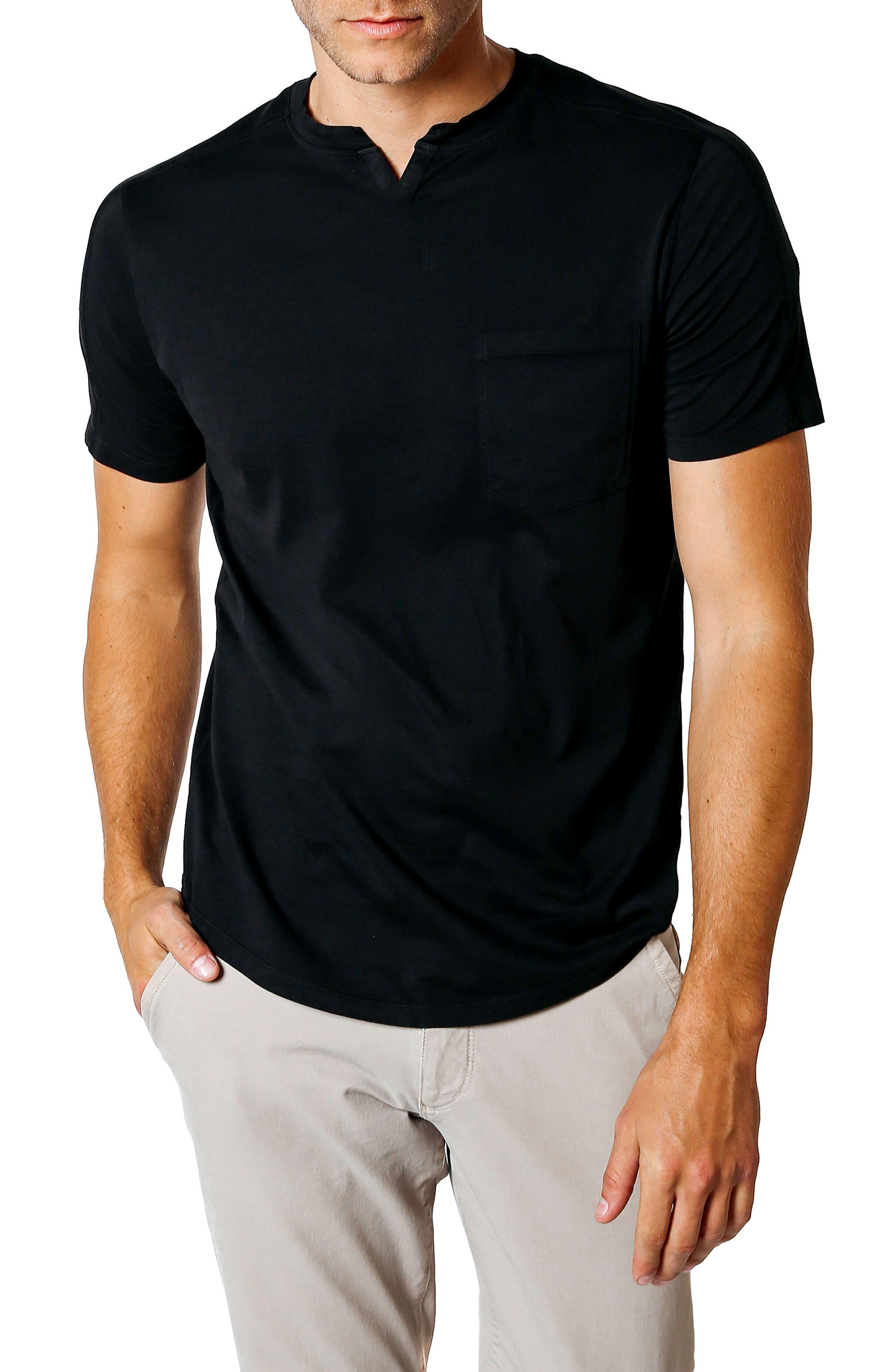Slim Fit V-Neck T-Shirt,                             Main thumbnail 1, color,                             Black