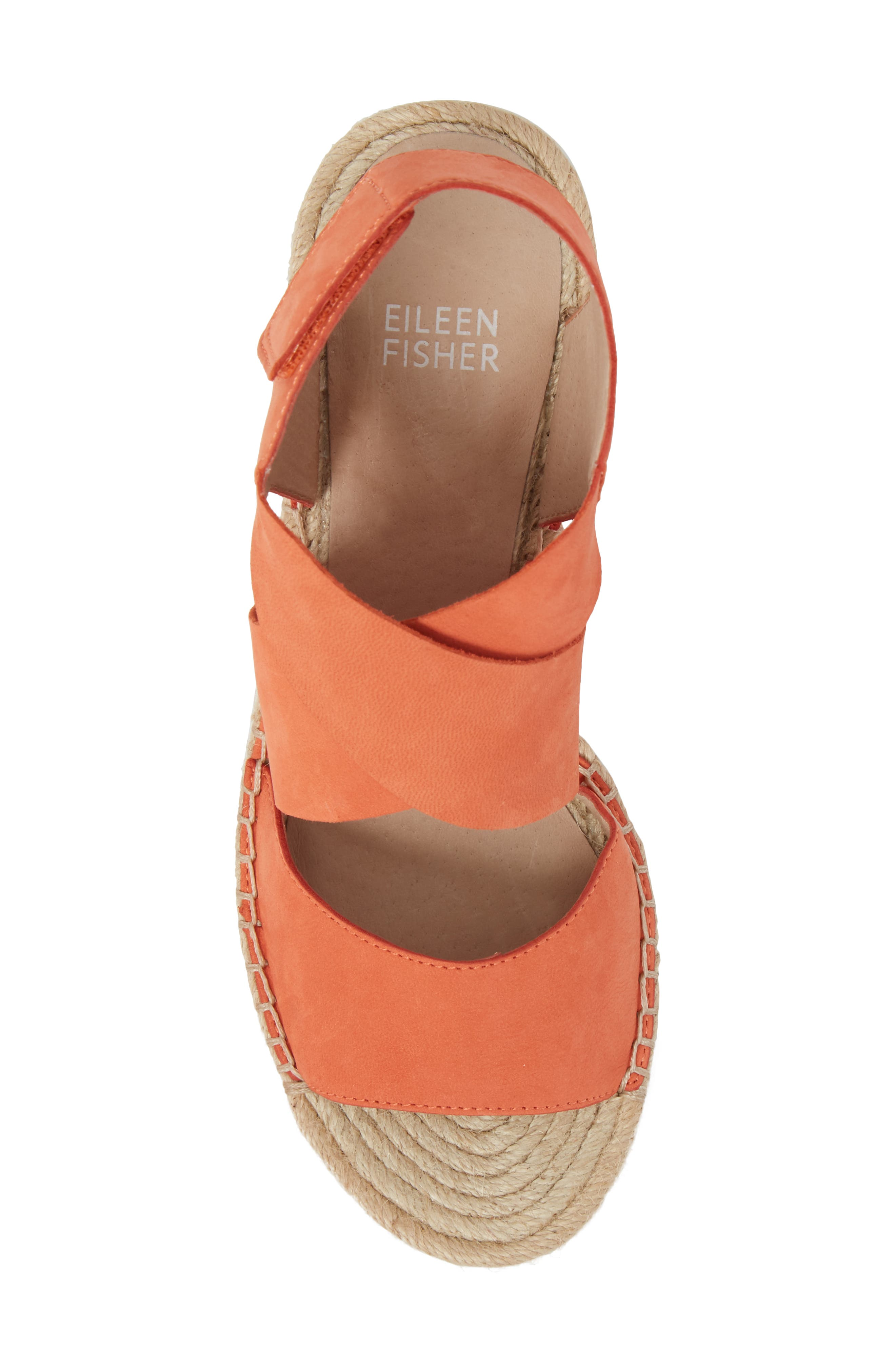 'Willow' Espadrille Wedge Sandal,                             Alternate thumbnail 5, color,                             Persimmon Leather
