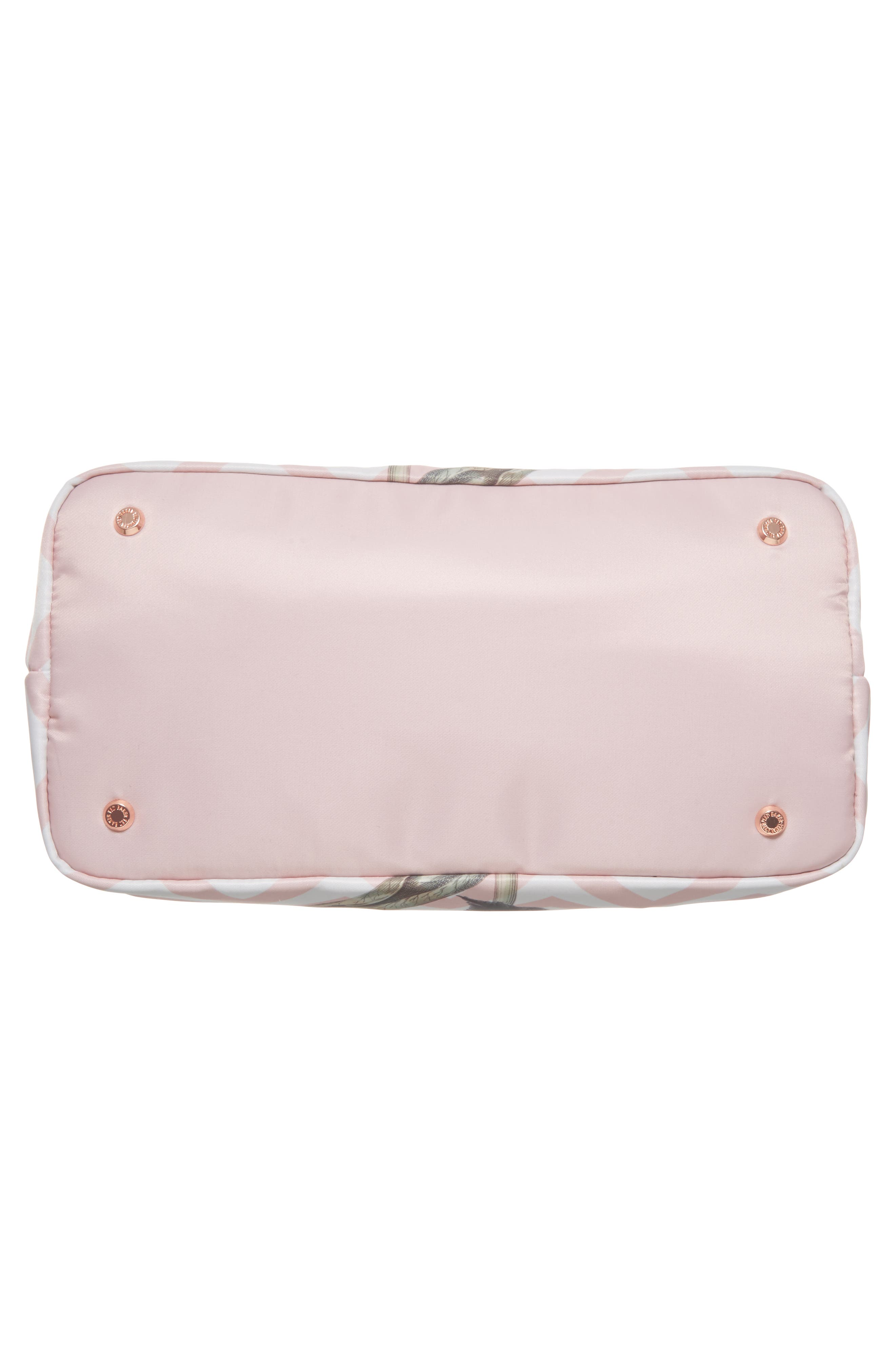 Small Palace Gardens Tote,                             Alternate thumbnail 6, color,                             Dusky Pink