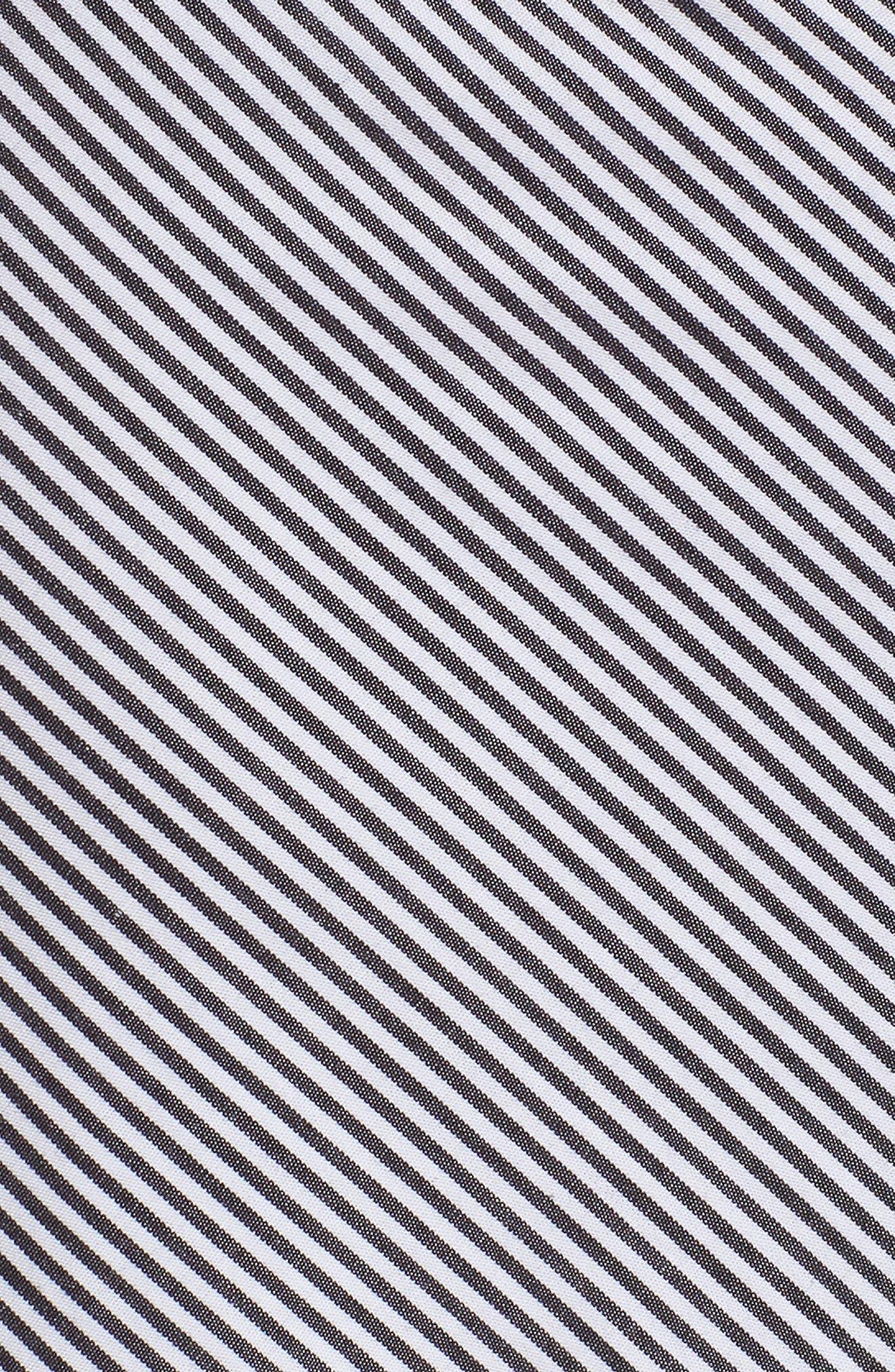 Flounce Ruffle Trim Skirt,                             Alternate thumbnail 6, color,                             Black Jenny Stripe