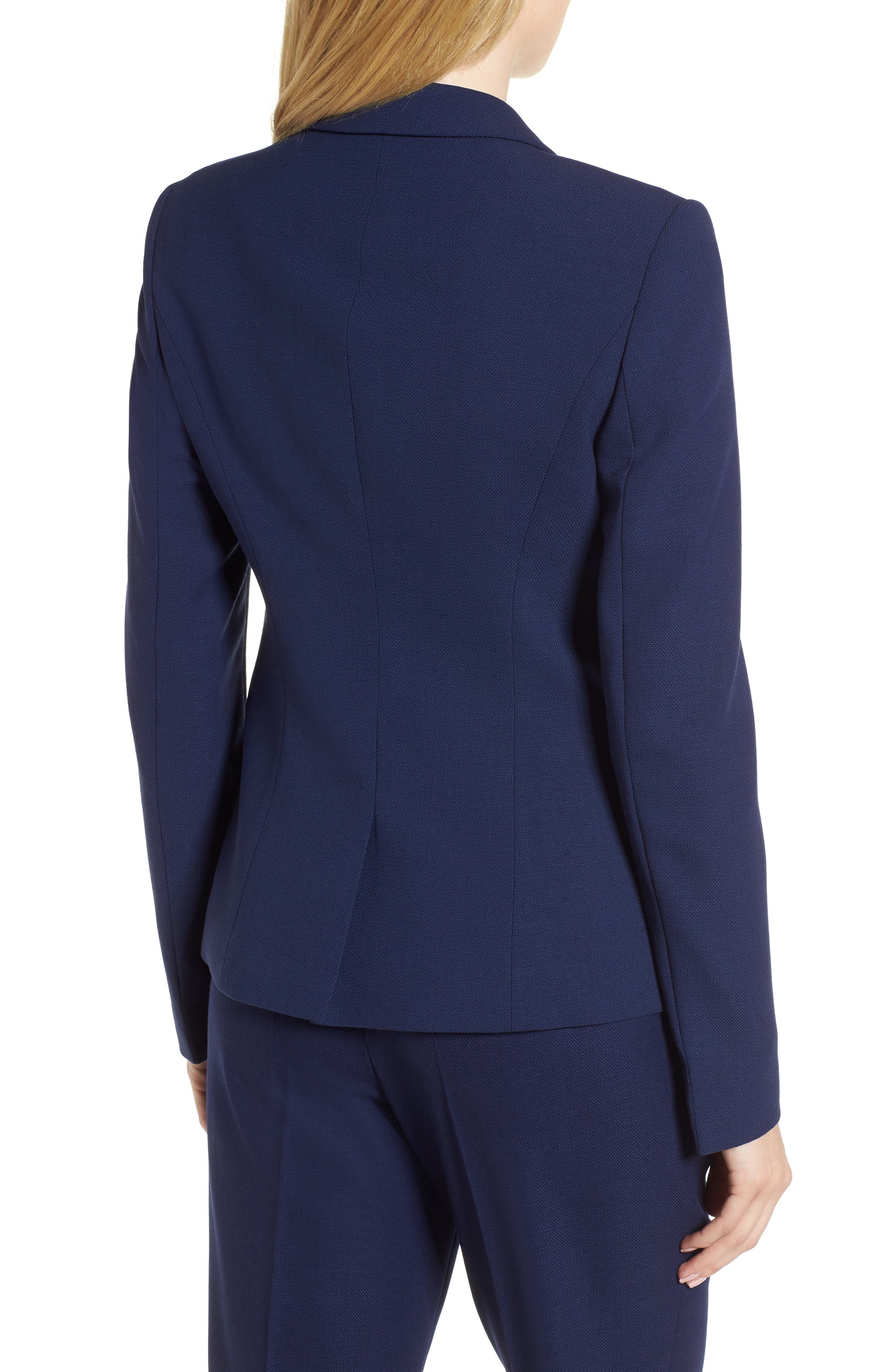 Jibalena Textured Stretch Wool Suit Jacket,                             Alternate thumbnail 2, color,                             Nautical