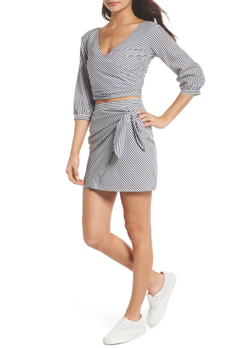 Cocktails Please Stripe Two-Piece Dress