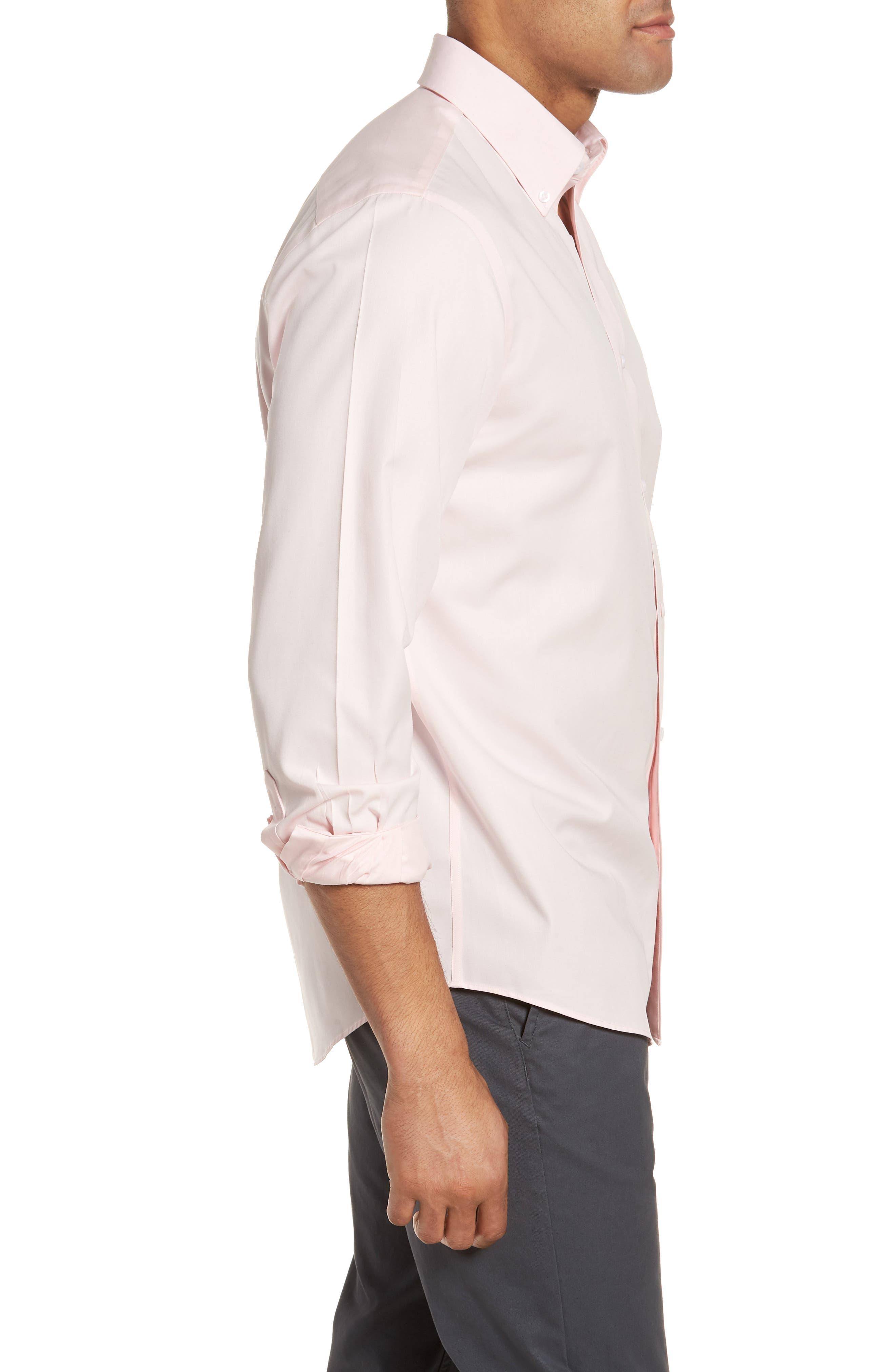 Smartcare<sup>™</sup> Traditional Fit Twill Boat Shirt,                             Alternate thumbnail 4, color,                             Pink Breath