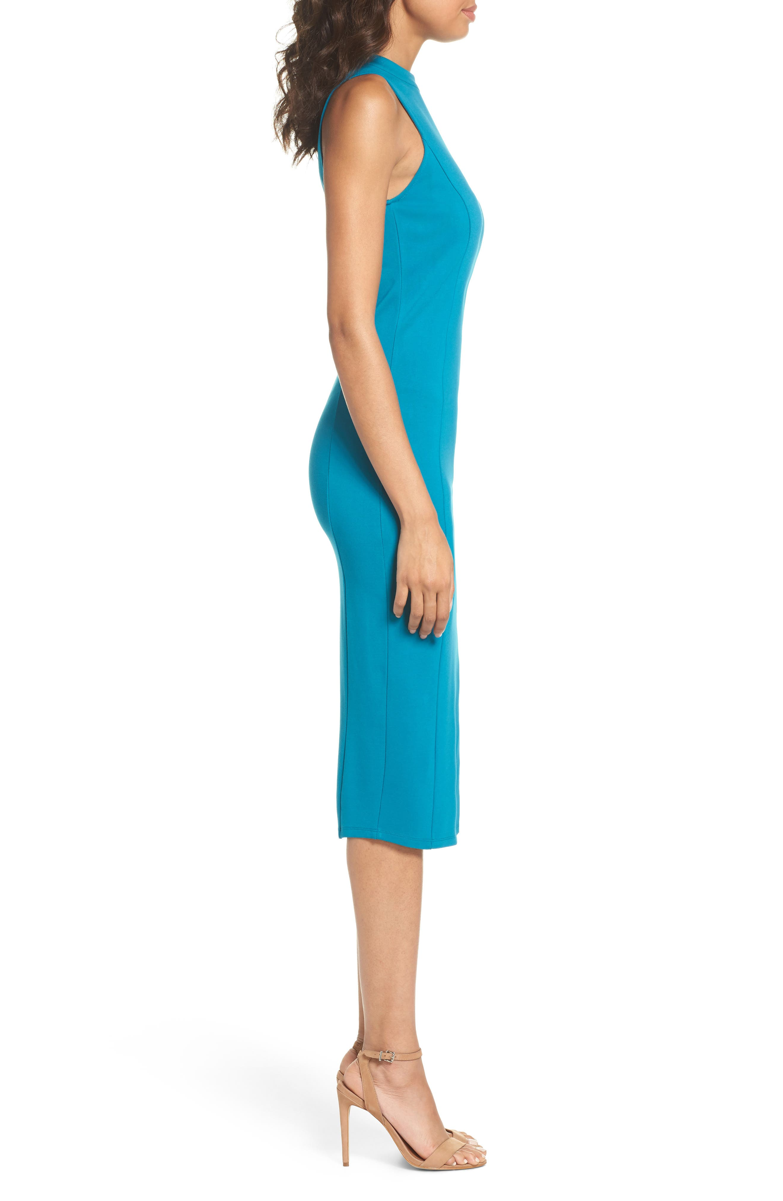 Alternate Image 3  - Felicity & Coco Pepa Mock Neck Sheath Dress (Nordstrom Exclusive)