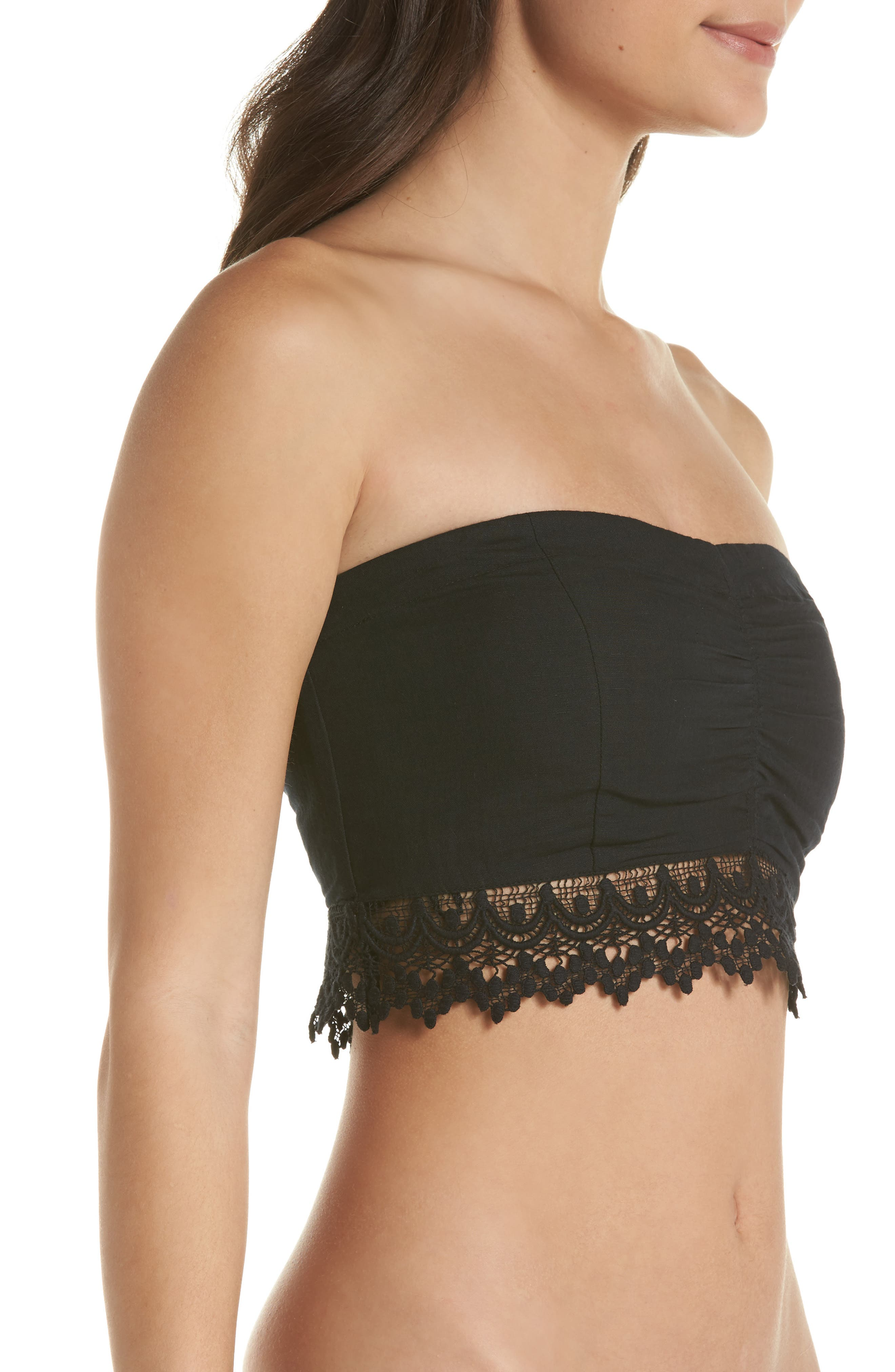 Intimately FP Dream Lover Bandeau Bralette,                             Alternate thumbnail 3, color,                             Black