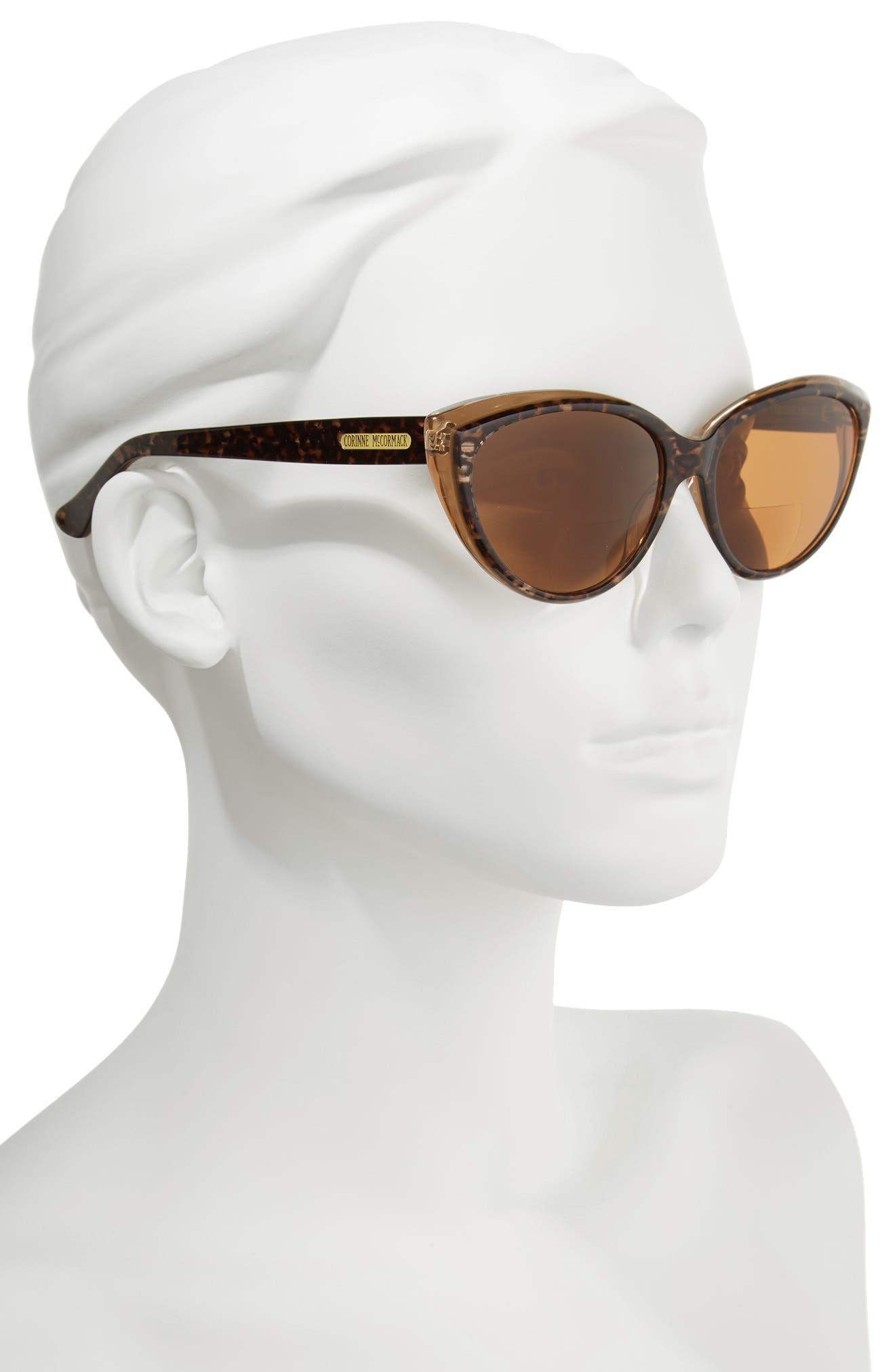 Corrine McCormack Anita 59mm Reading Sunglasses,                             Alternate thumbnail 2, color,                             Dark Leopard