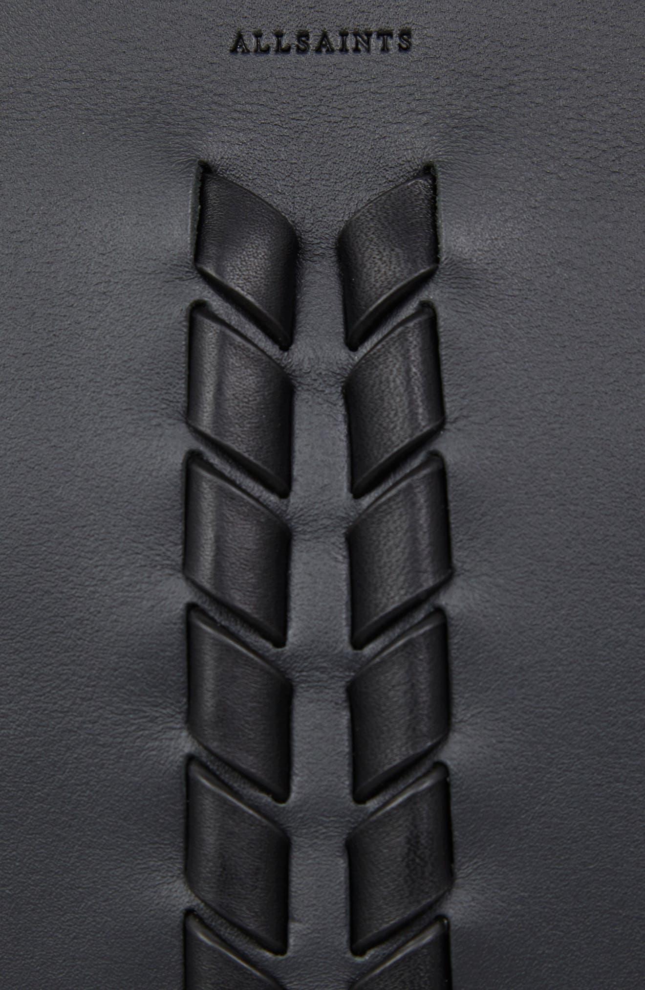 Kepi Leather Crossbody Bag,                             Alternate thumbnail 8, color,                             Navy Black