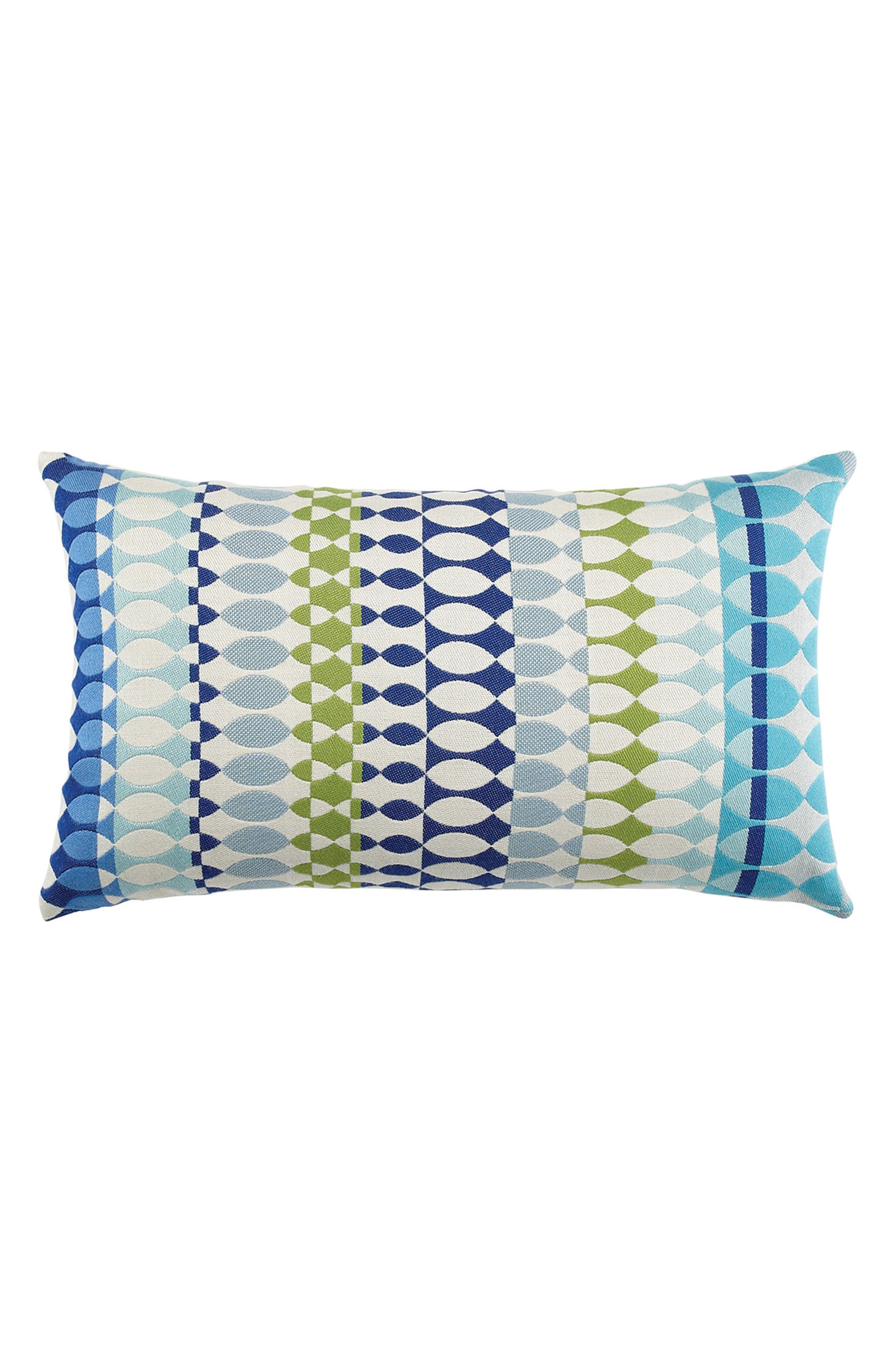 Modern Oval Ocean Lumbar Pillow,                         Main,                         color, Blue Multi