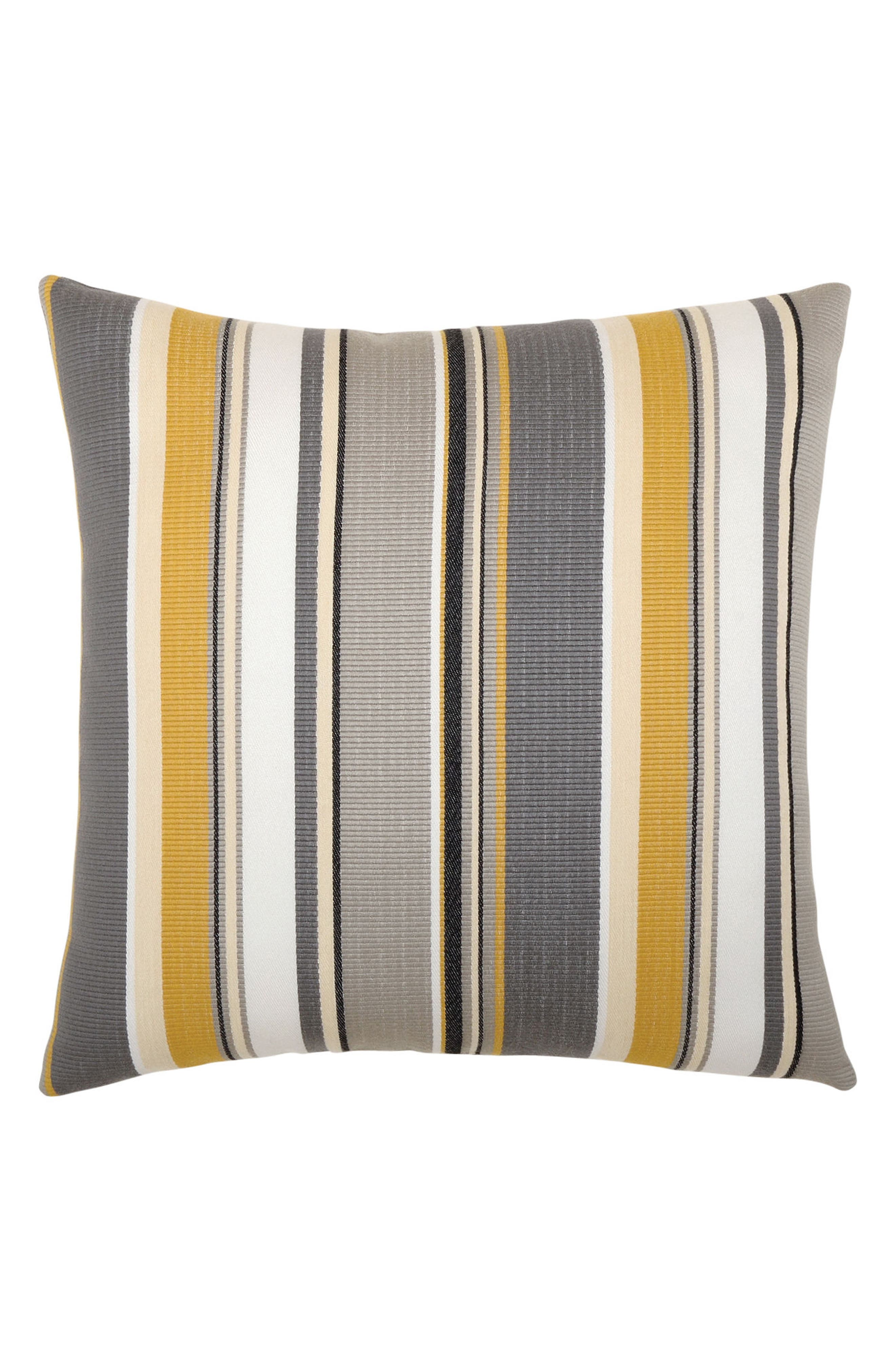Shadow Stripe Indoor/Outdoor Accent Pillow,                             Main thumbnail 1, color,                             Grey/ Gold