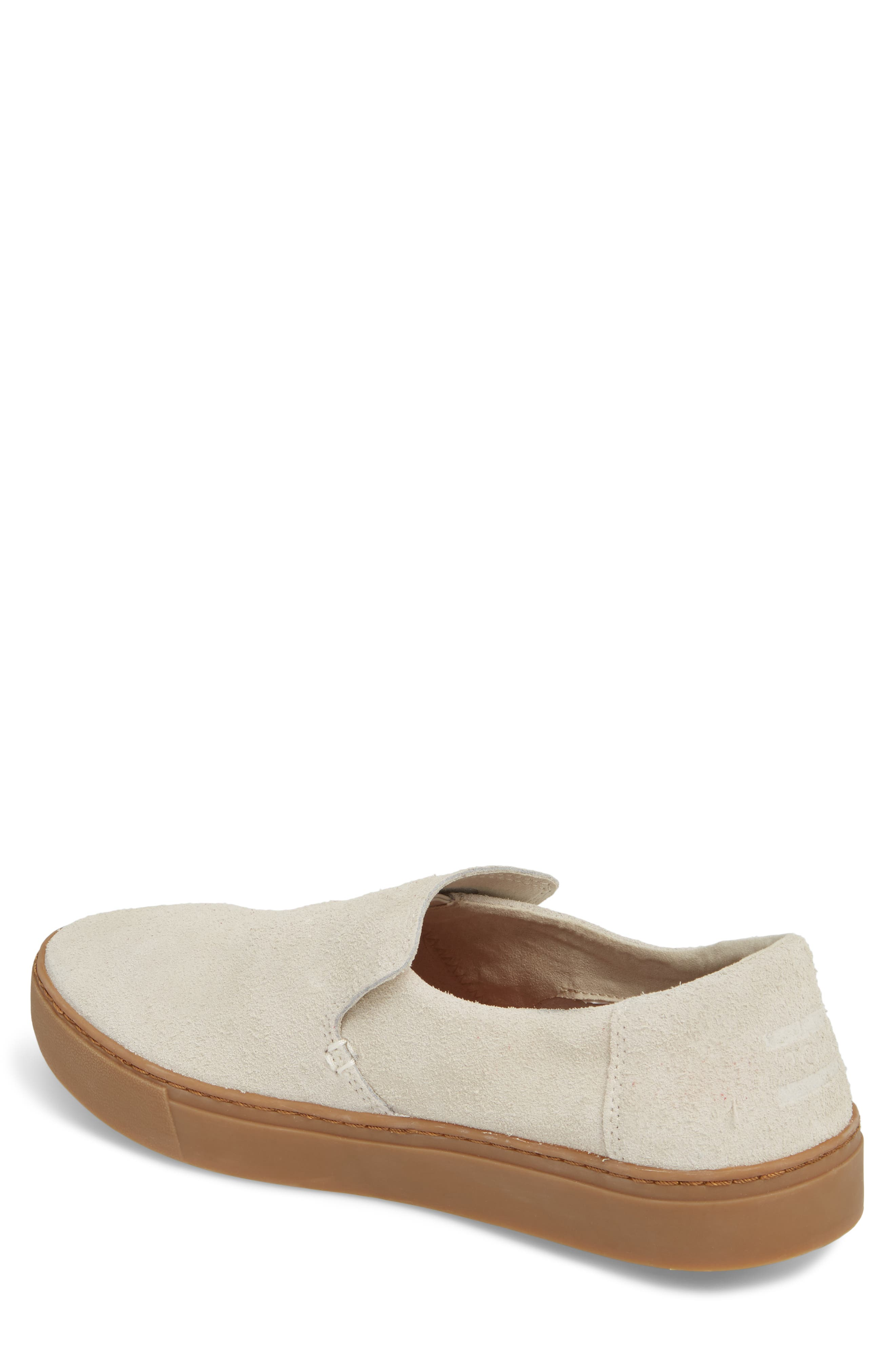 Loma Slip-On Sneaker,                             Alternate thumbnail 2, color,                             Birch Shaggy Suede/ Gum