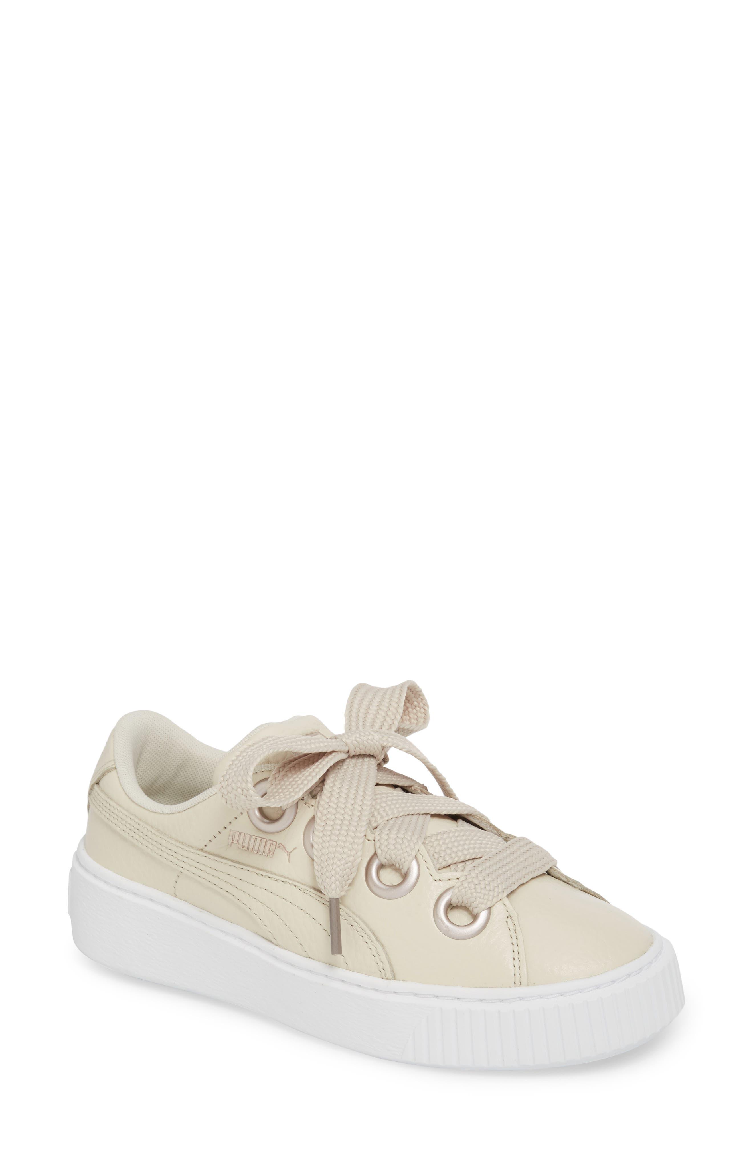 Platform Kiss Sneaker,                         Main,                         color, Ivory