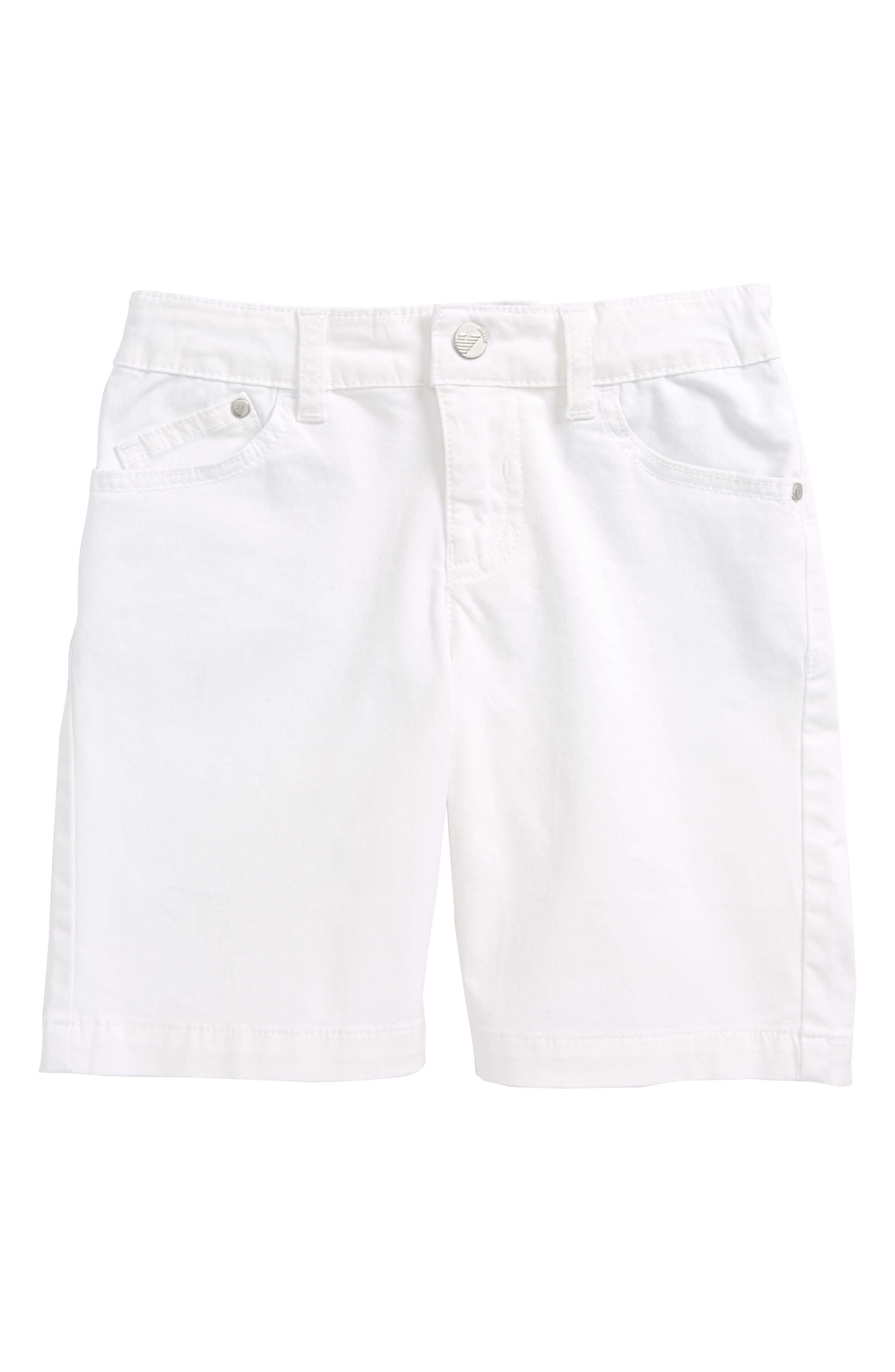 Stretch Cotton Shorts,                         Main,                         color, White
