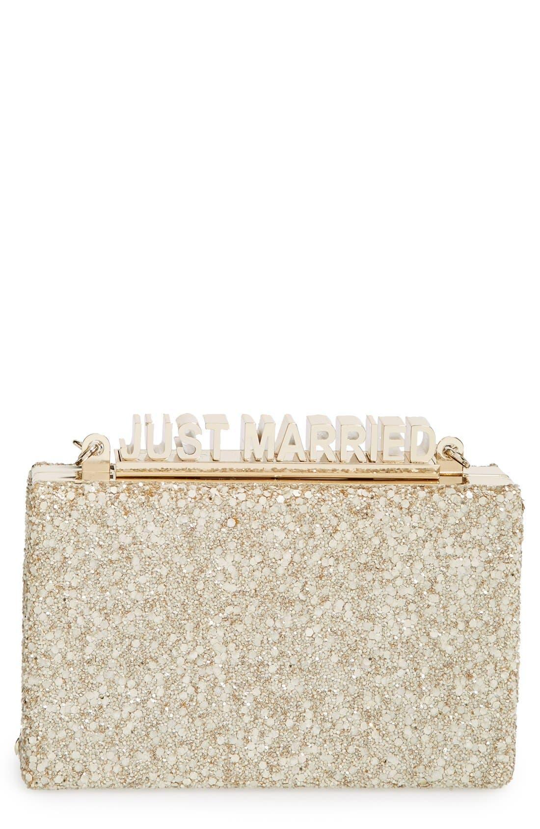 Alternate Image 1 Selected - kate spade new york 'wedding belles - ravi' box clutch