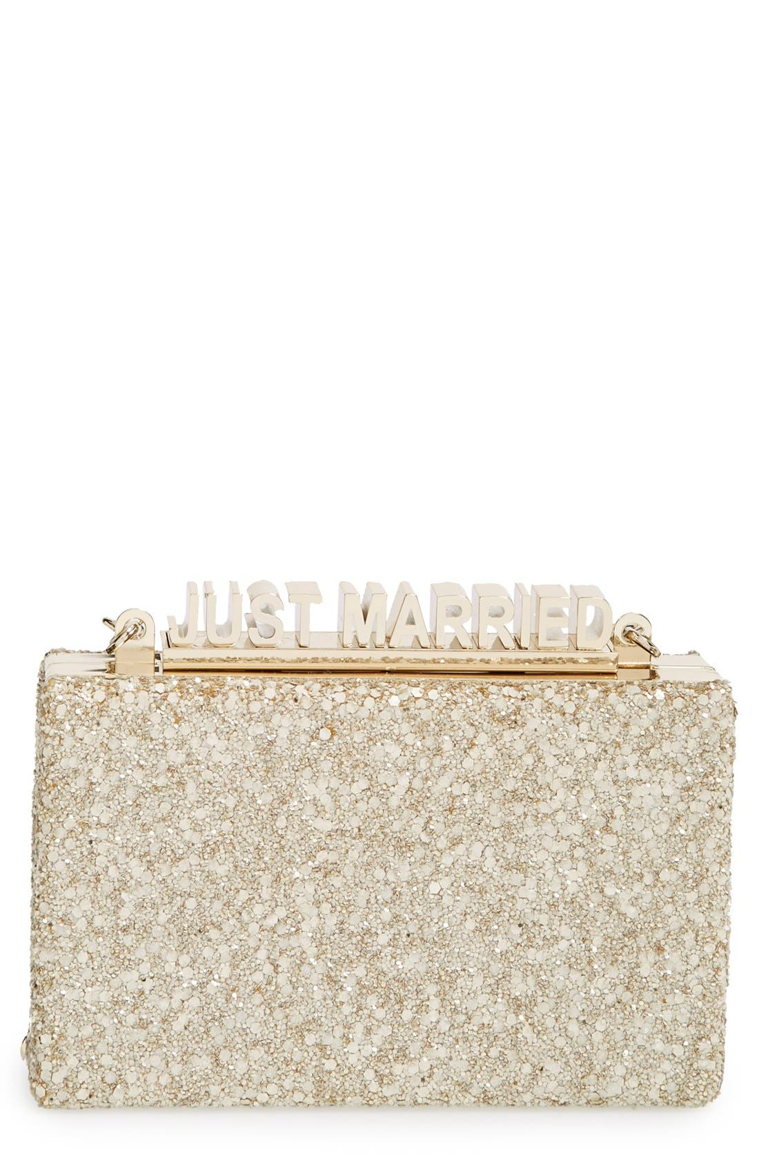 Main Image - kate spade new york 'wedding belles - ravi' box clutch