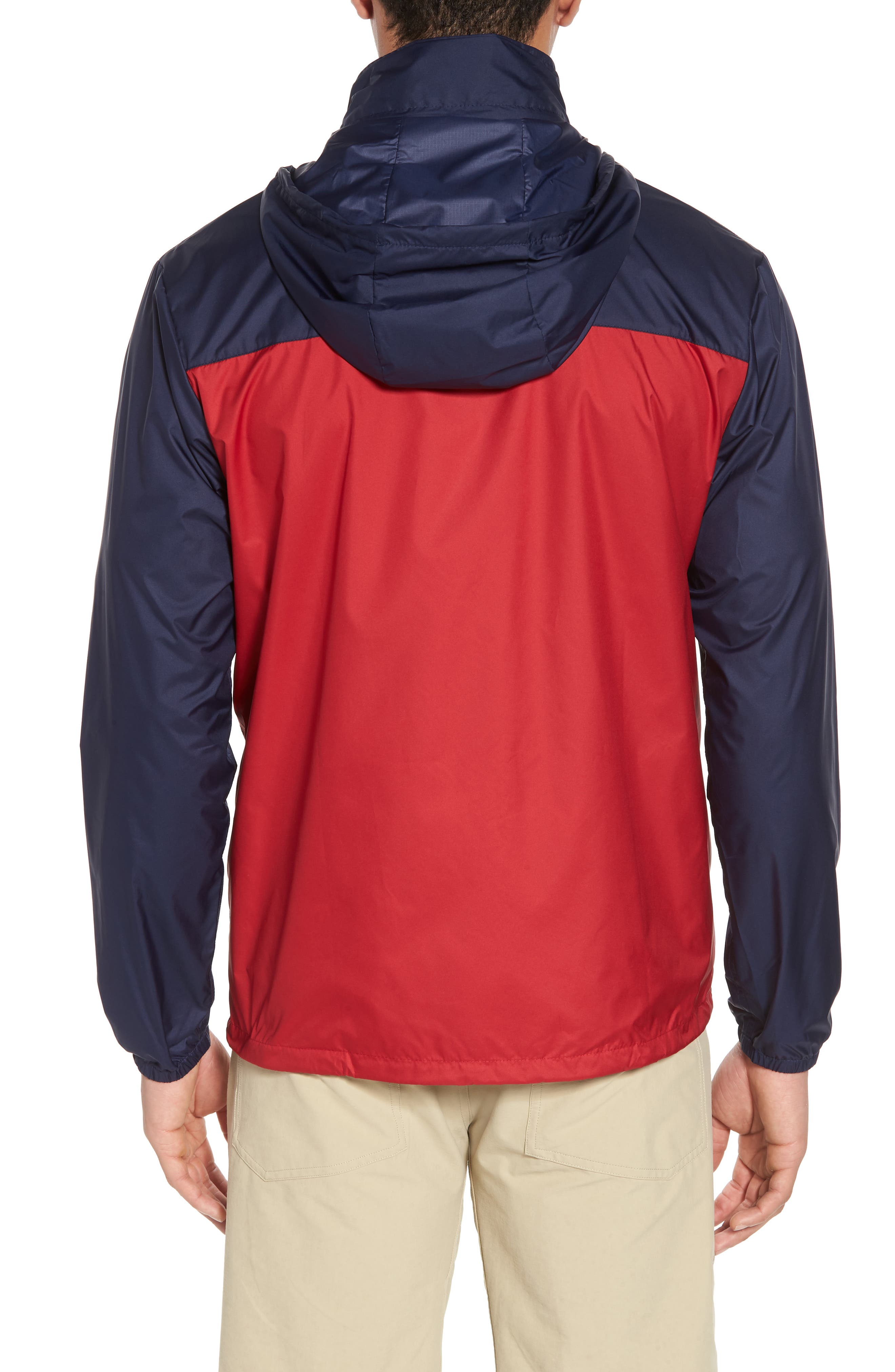 Light & Variable<sup>™</sup> Wind & Water Resistant Hooded Jacket,                             Alternate thumbnail 2, color,                             Classic Red