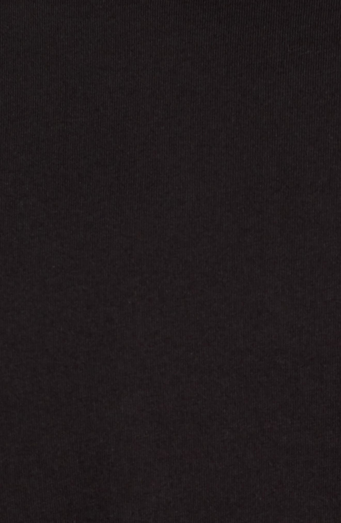 Long Sleeve Jersey Polo,                             Alternate thumbnail 5, color,                             Black
