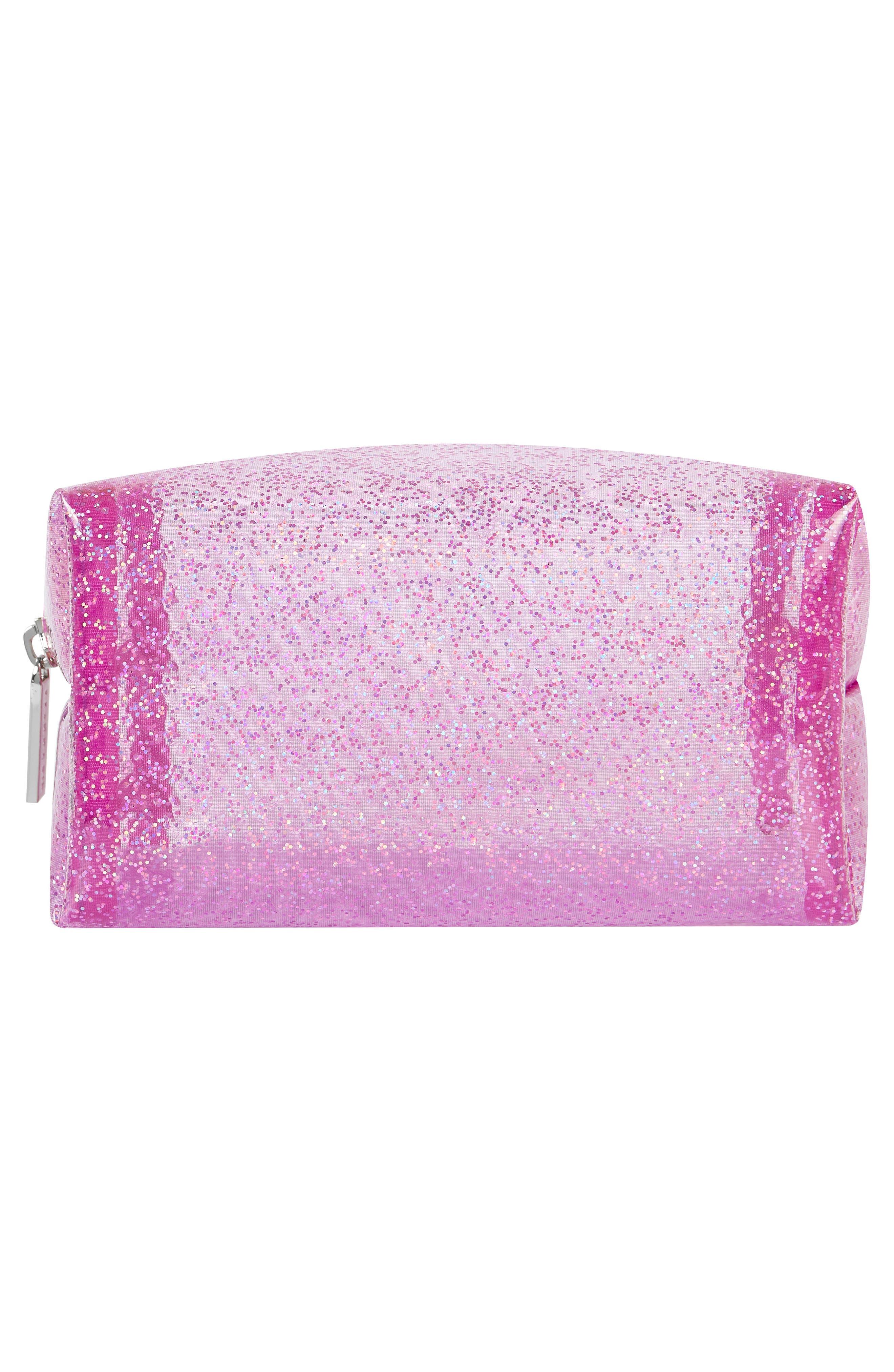 Skinny Dip Glitter Bomb Makeup Bag,                             Alternate thumbnail 3, color,                             No Color