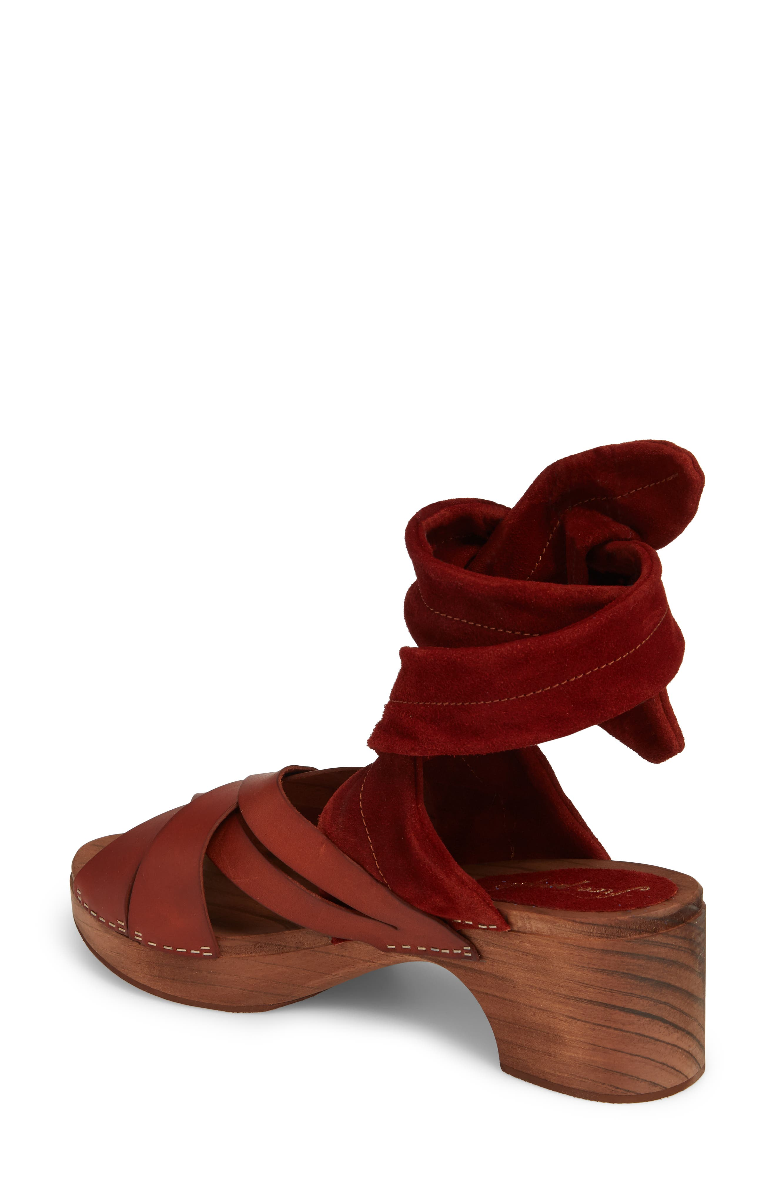 Emmy Ankle Wrap Sandal,                             Alternate thumbnail 2, color,                             Brown