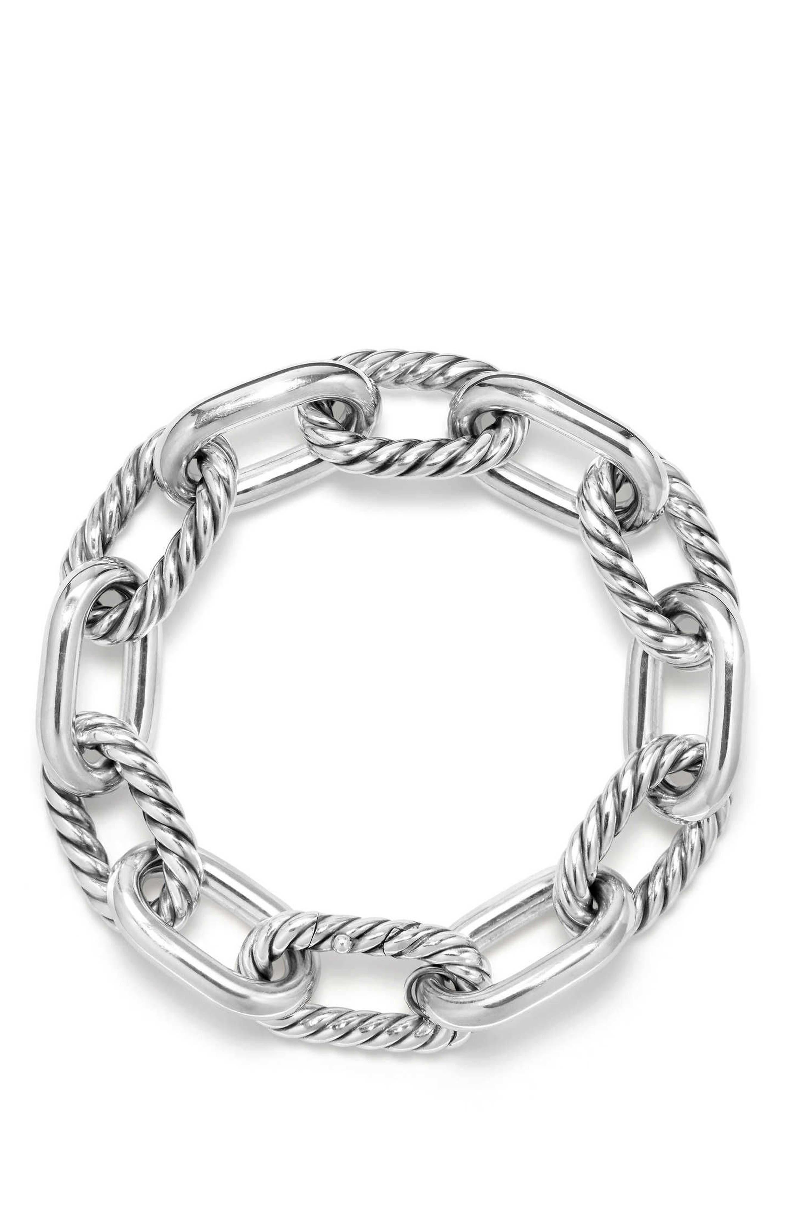 DY Madison Chain Large Bracelet,                             Alternate thumbnail 2, color,                             Silver