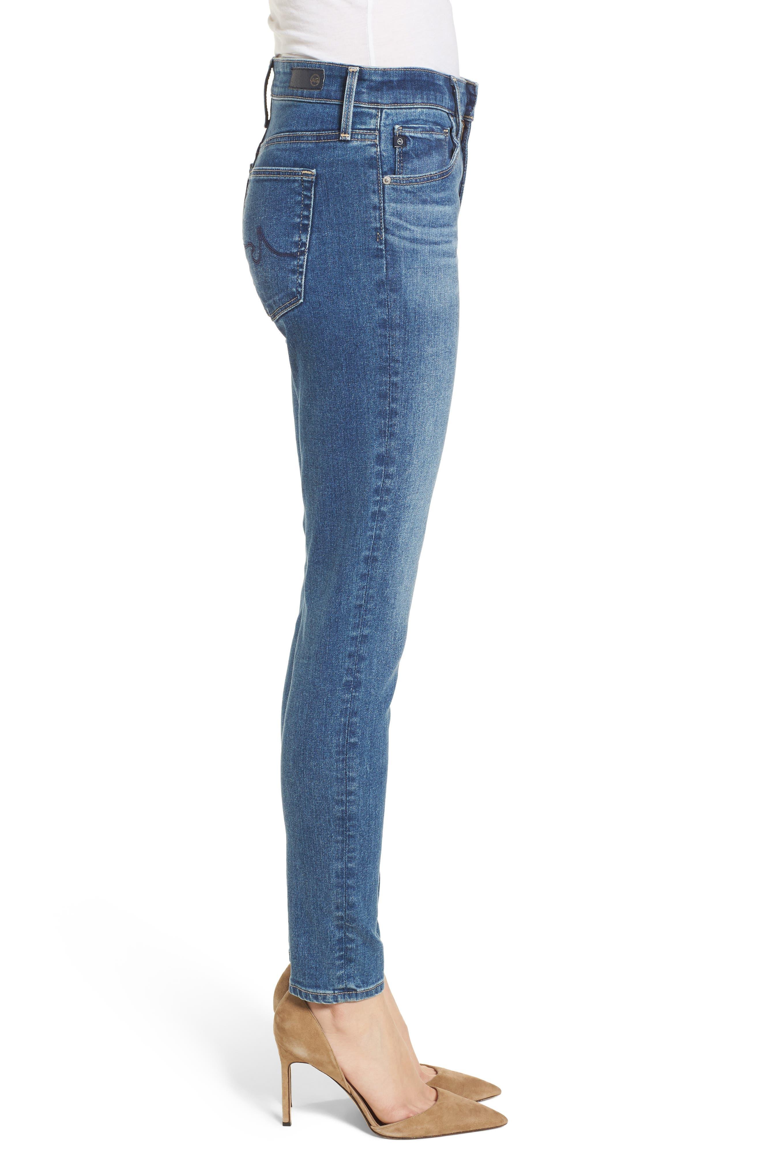 Alternate Image 3  - AG The Farrah Ankle Skinny Jeans (California Blue)