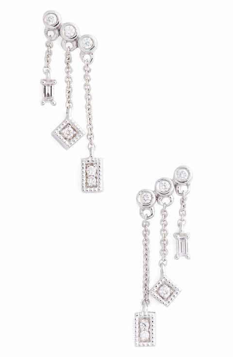Dana Rebecca Designs Lisa Mice Diamond Drop Earrings