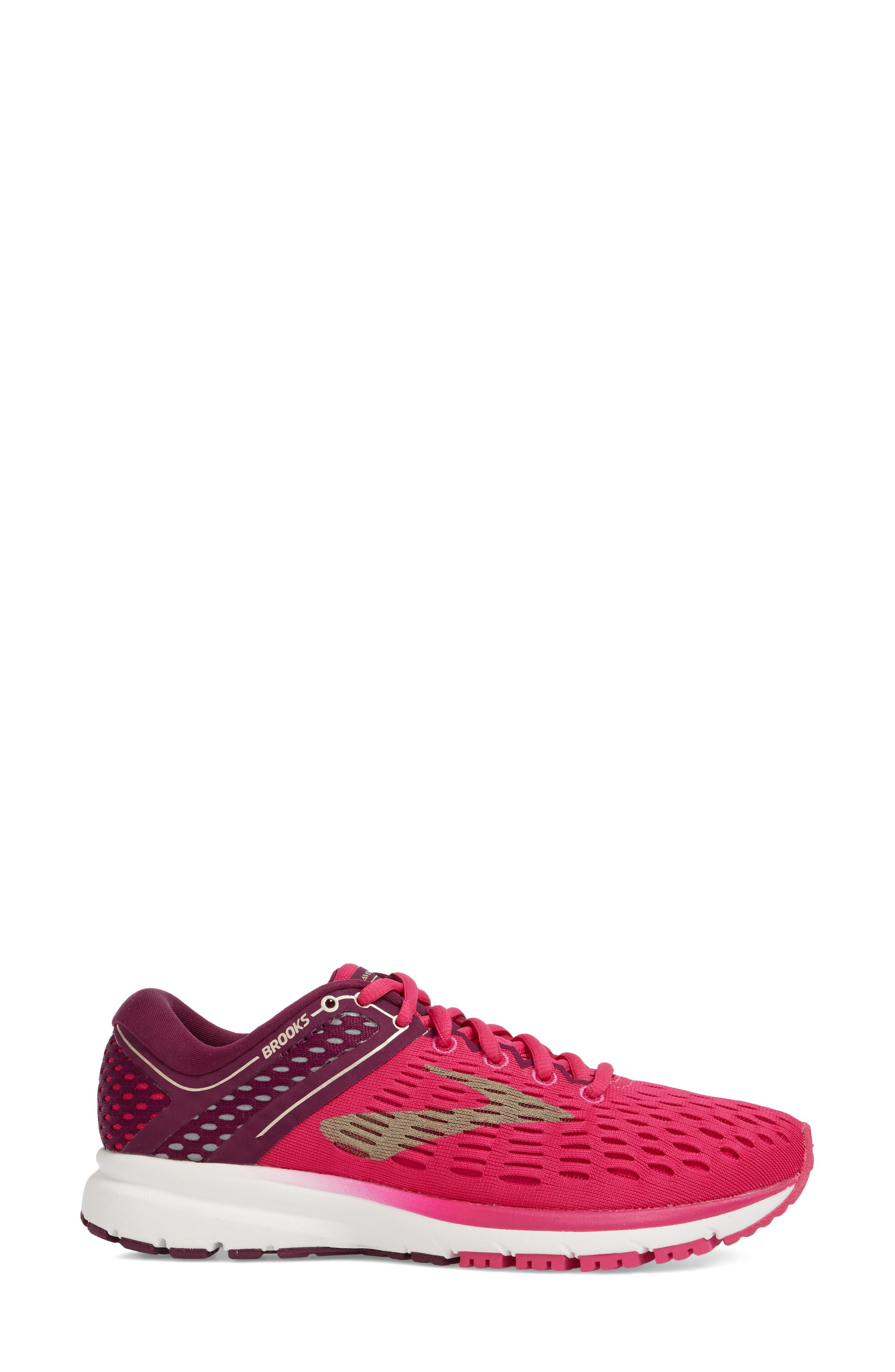Ravenna 9 Running Shoe,                             Alternate thumbnail 3, color,                             Pink/ Plum/ Champagne