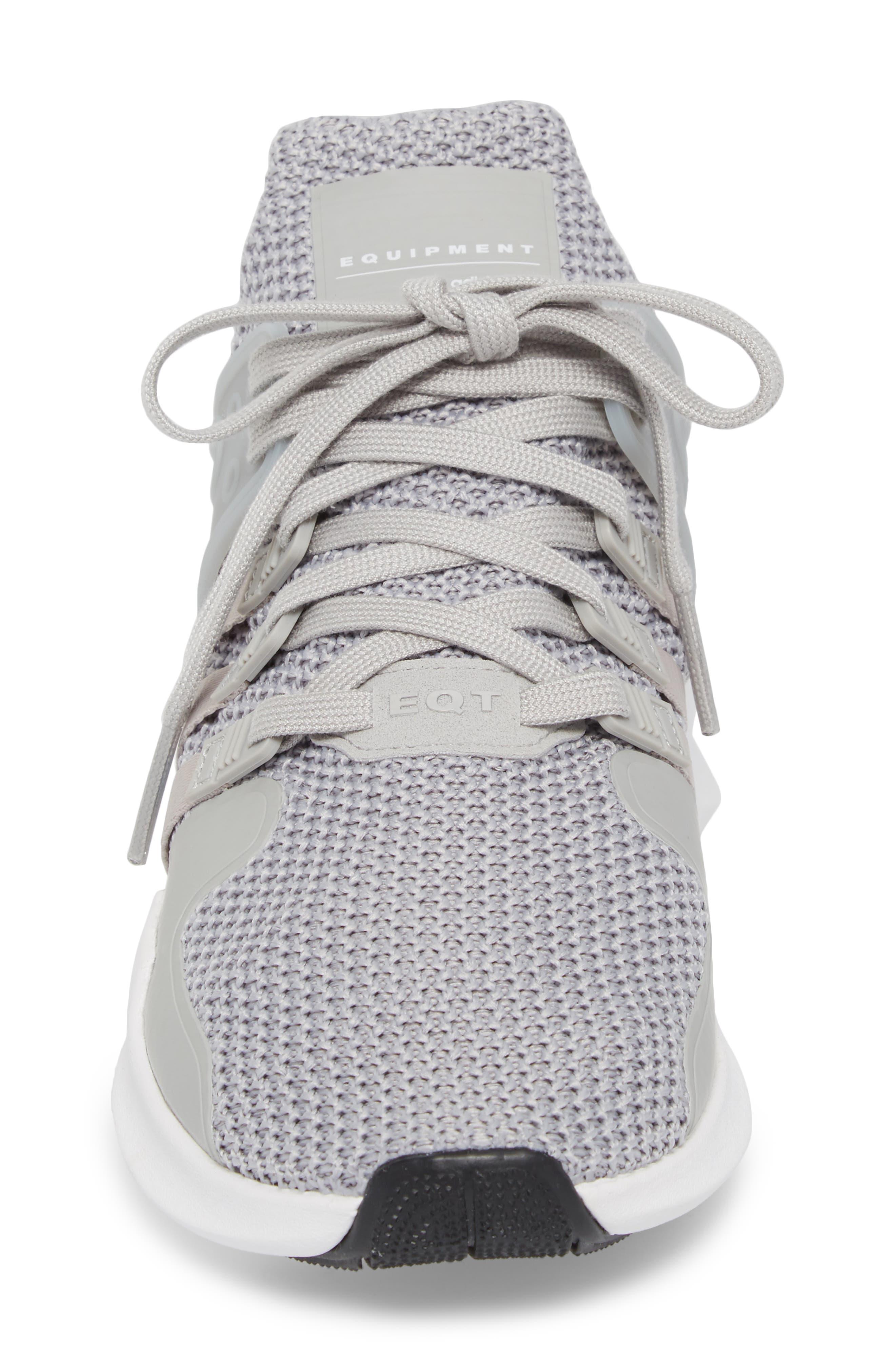 EQT Support Adv Sneaker,                             Alternate thumbnail 4, color,                             Grey/ White