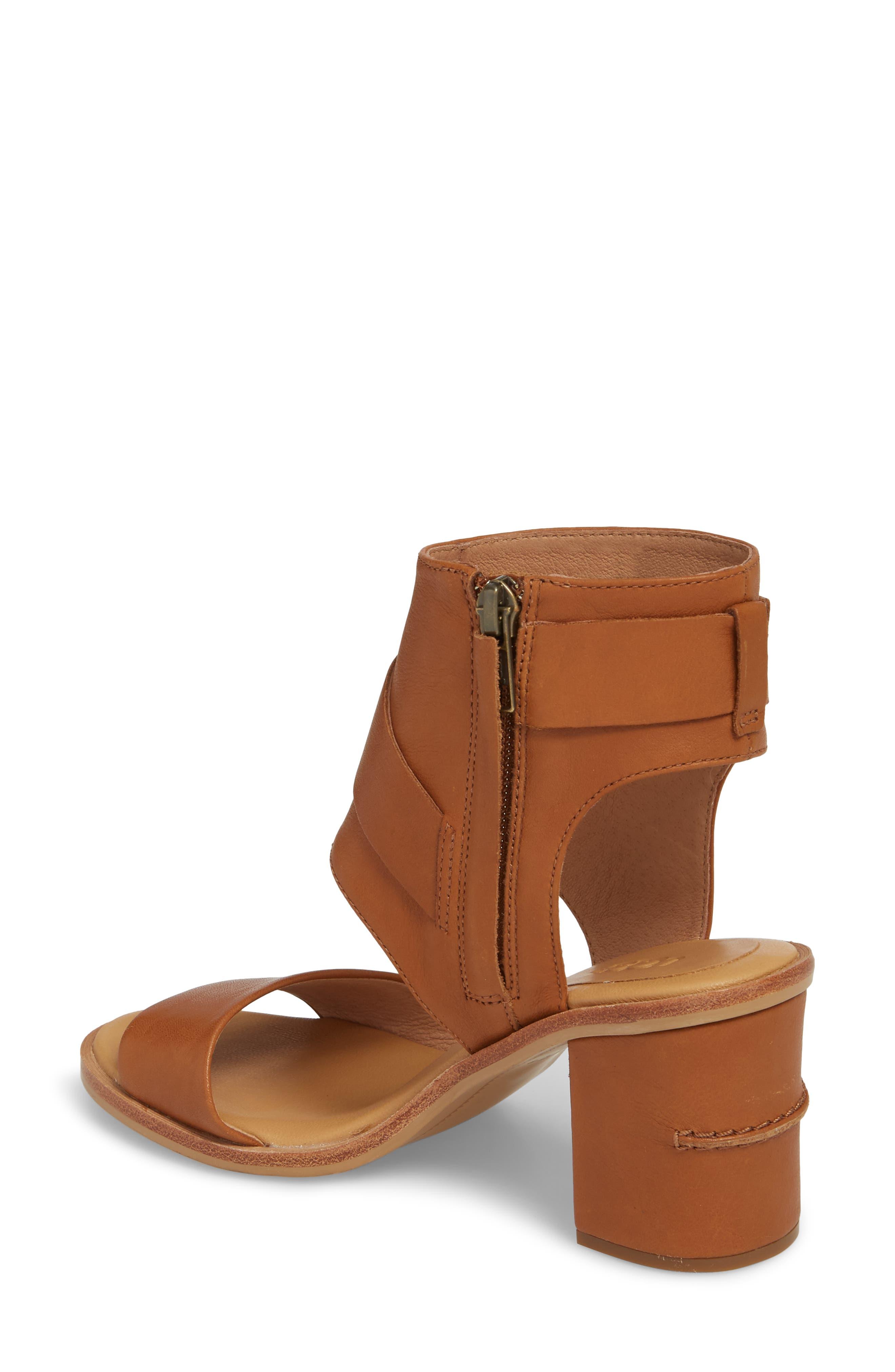 Claudette Cuff Sandal,                             Alternate thumbnail 2, color,                             Almond Leather